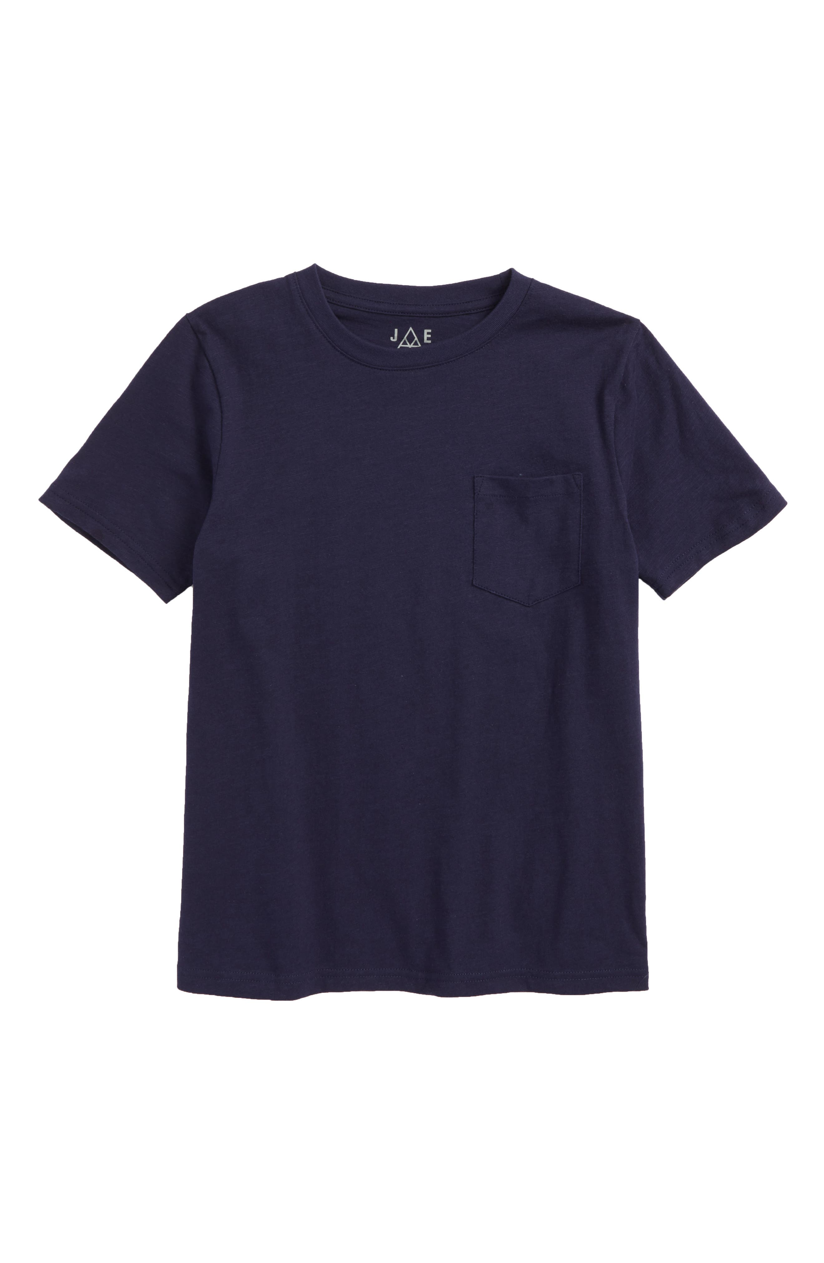 Pocket T-Shirt,                         Main,                         color, Navy