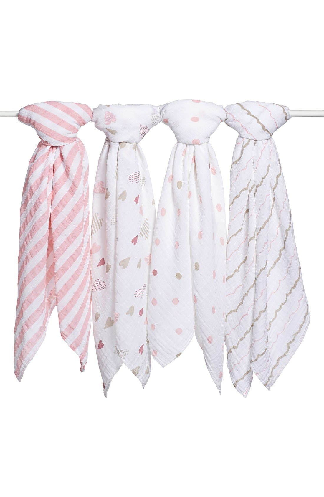 aden + anais Set of 4 Classic Swaddling Cloths