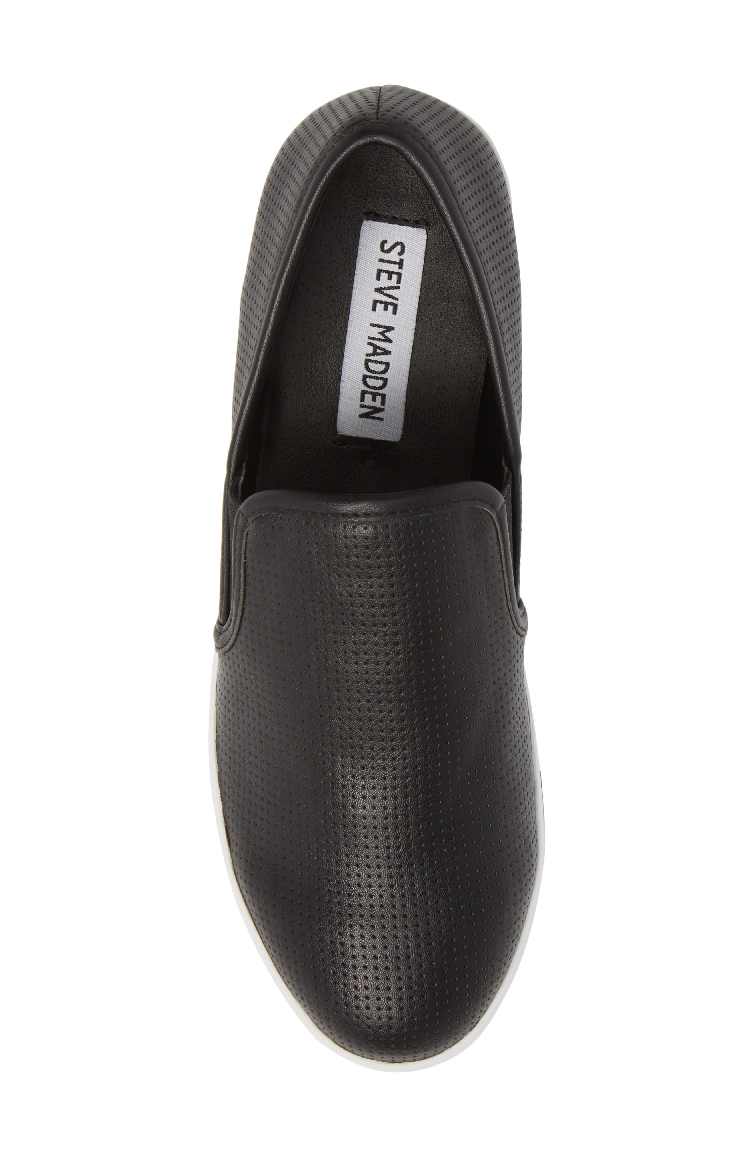 Becca Slip-On Sneaker,                             Alternate thumbnail 5, color,                             Black