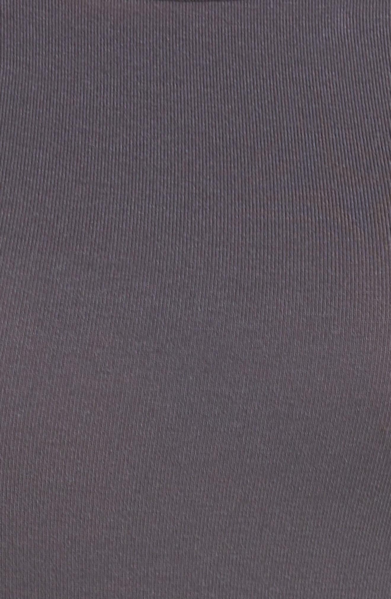 Scoop Back Thong Bodysuit,                             Alternate thumbnail 5, color,                             Gunmetal