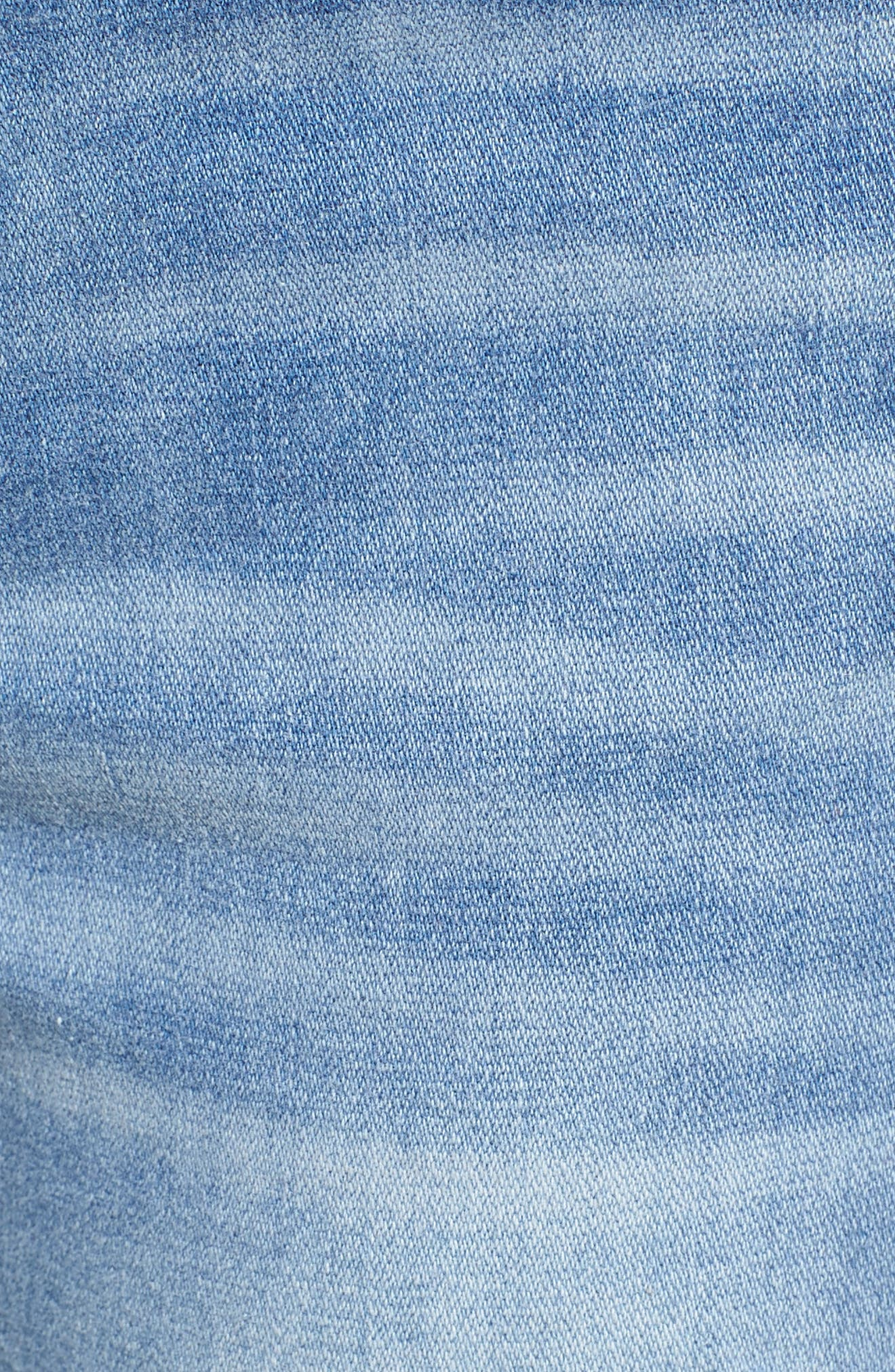 Marley Distressed Crop Skinny Jeans,                             Alternate thumbnail 6, color,                             Light Medium Wash