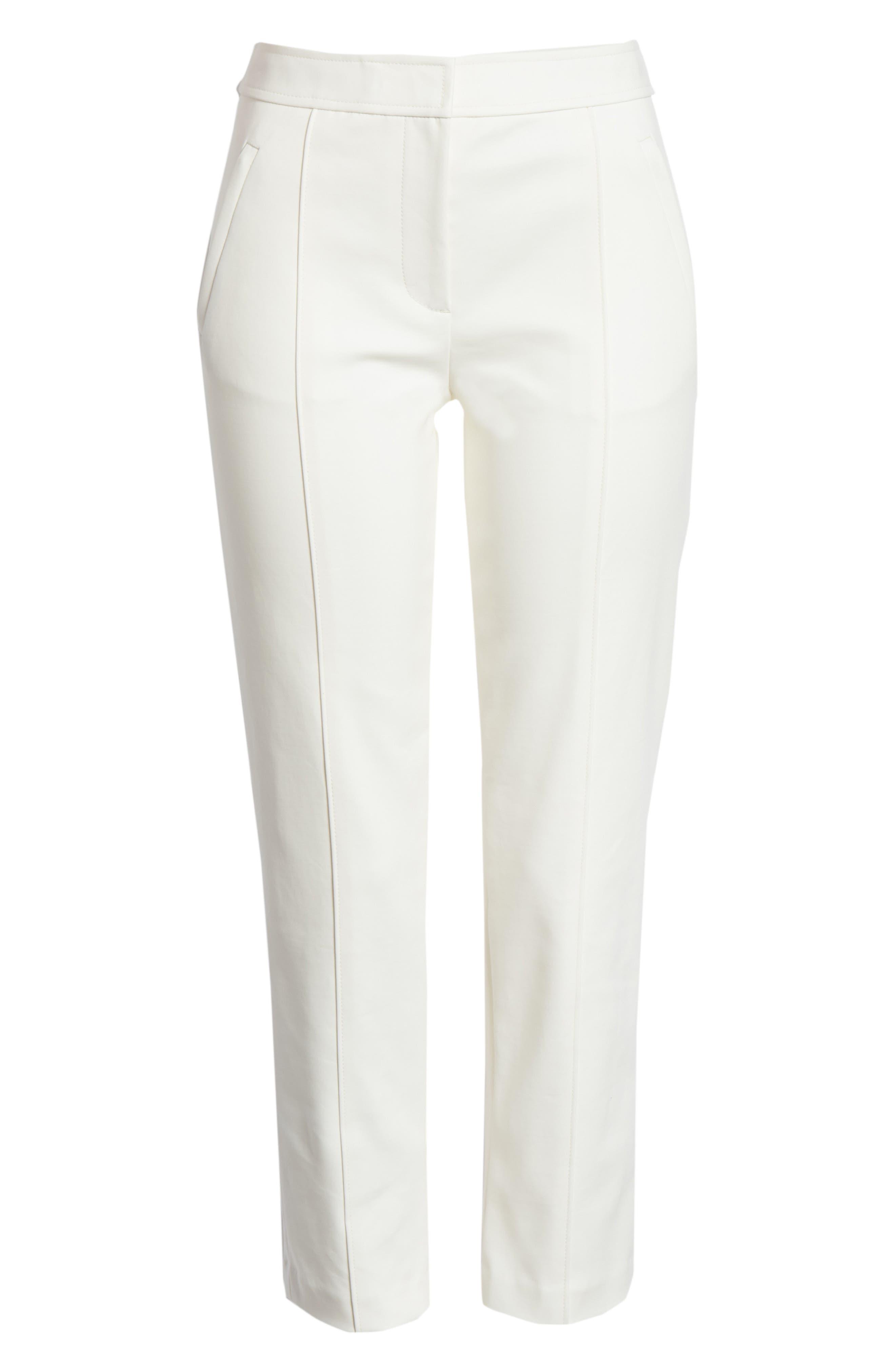Vanner Slim Leg Ankle Pants,                             Alternate thumbnail 6, color,                             New Ivory