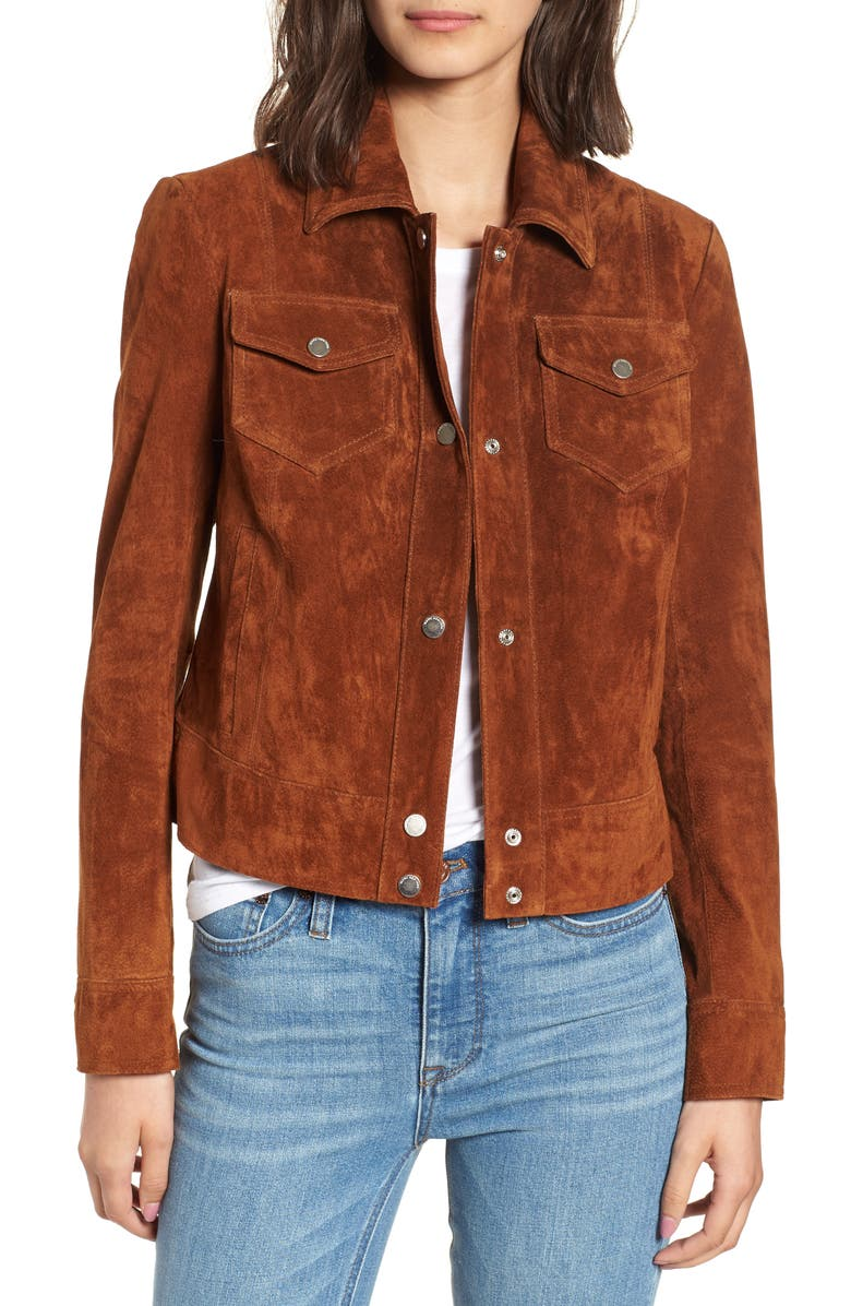 Tumbled Suede Trucker Jacket