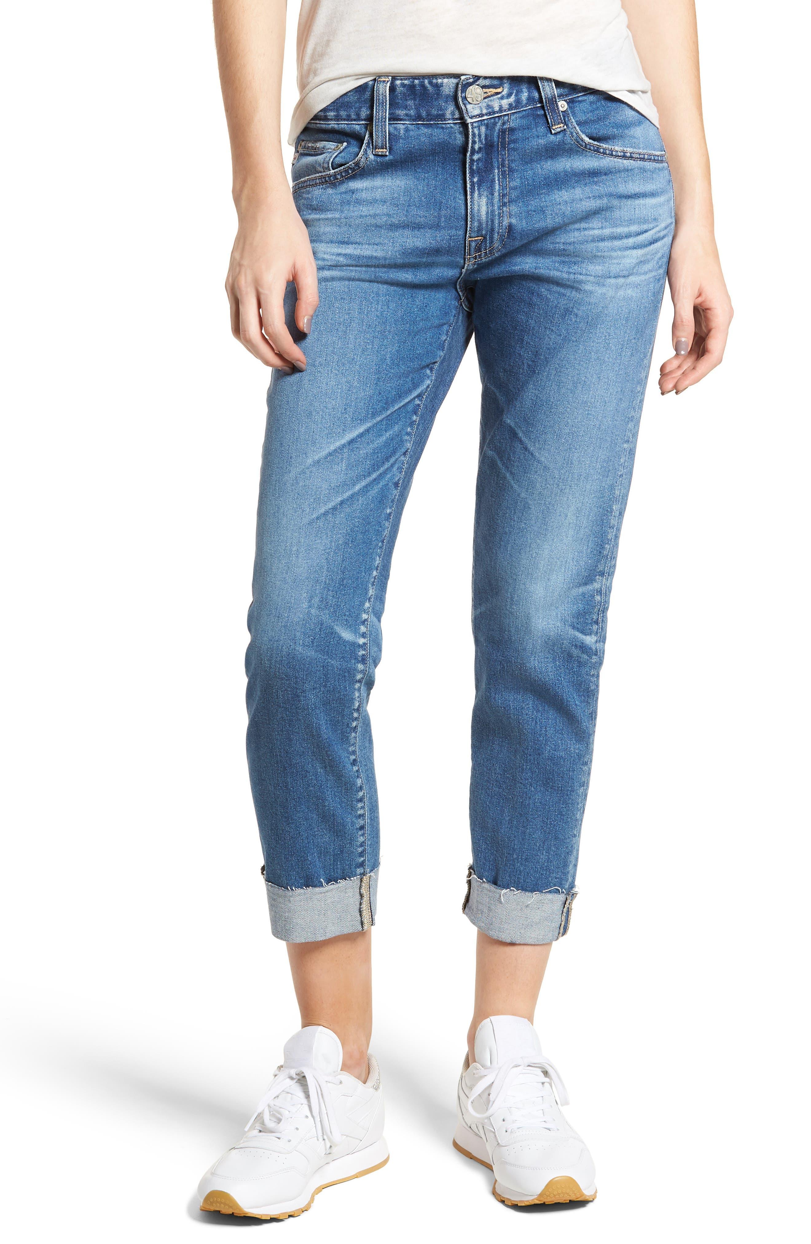 The Ex-Boyfriend Slim Jeans,                             Main thumbnail 1, color,                             14 Years Foxtail