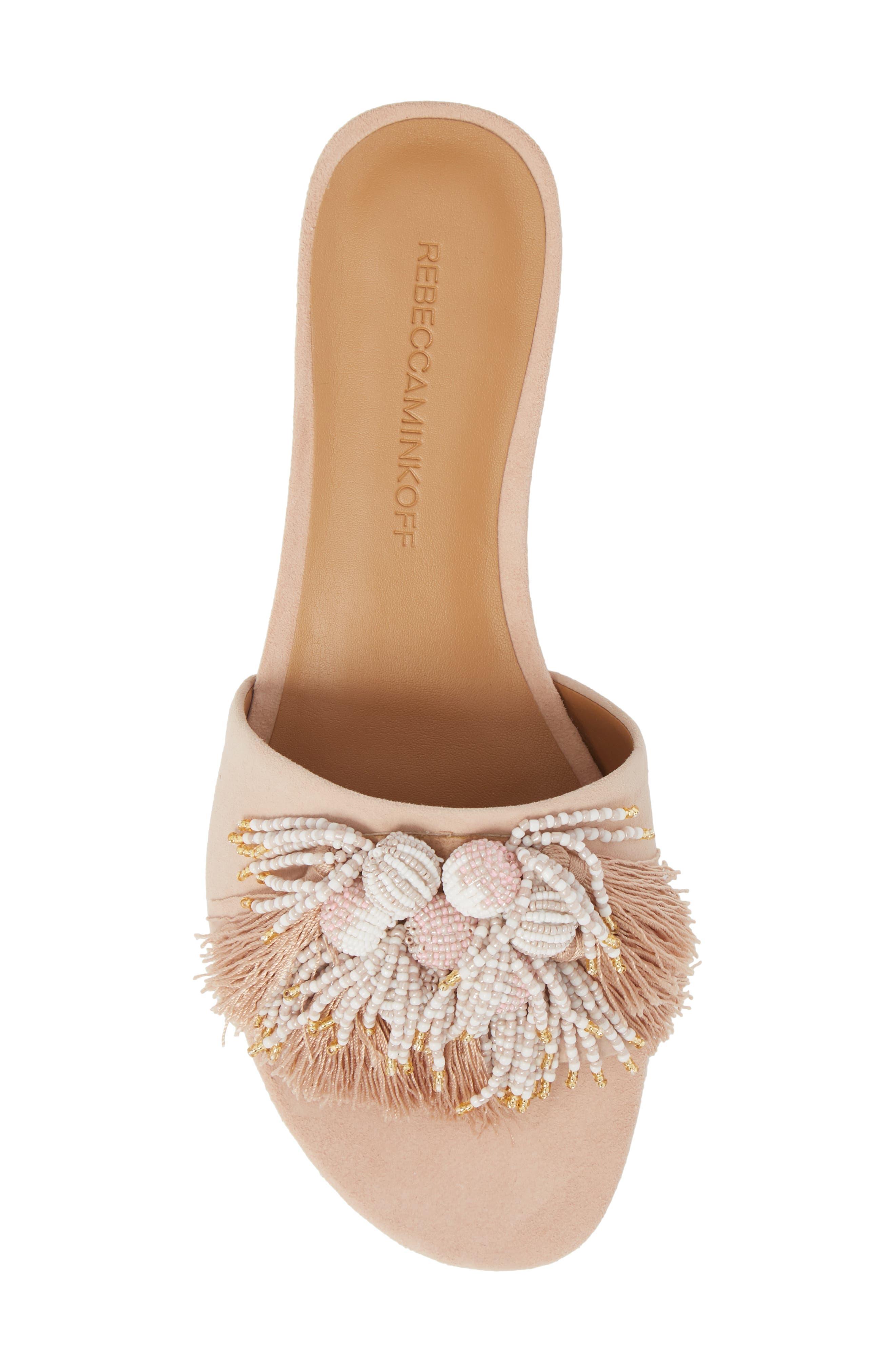 Kayleigh Embellished Slide Sandal,                             Alternate thumbnail 5, color,                             Ceramic Suede
