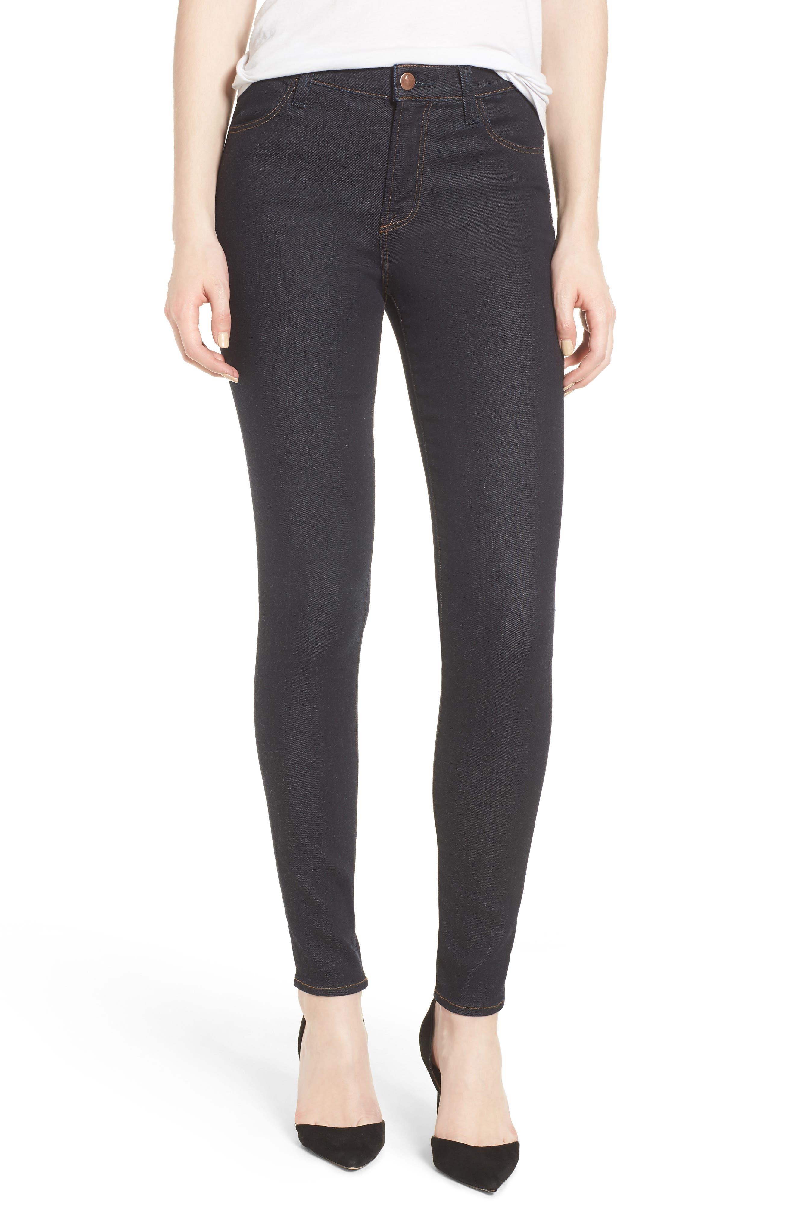 Maria High Waist Super Skinny Jeans,                             Main thumbnail 1, color,                             Dark Twilight