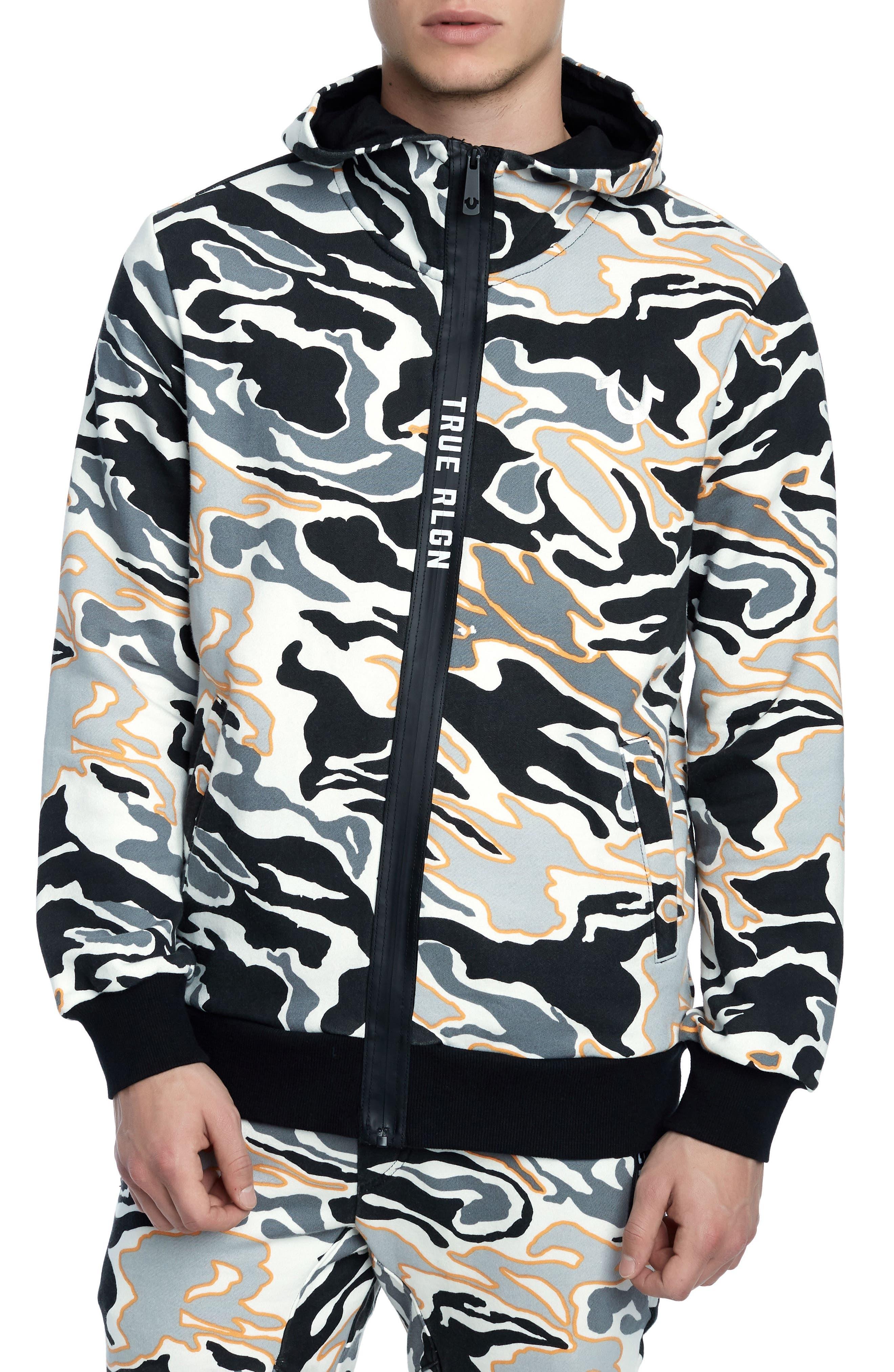 True Religion Brand Jeans Camo Active Zip Hoodie