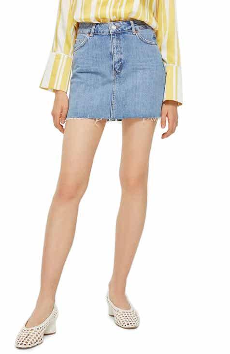 a8f124397ff2 Topshop Denim Miniskirt