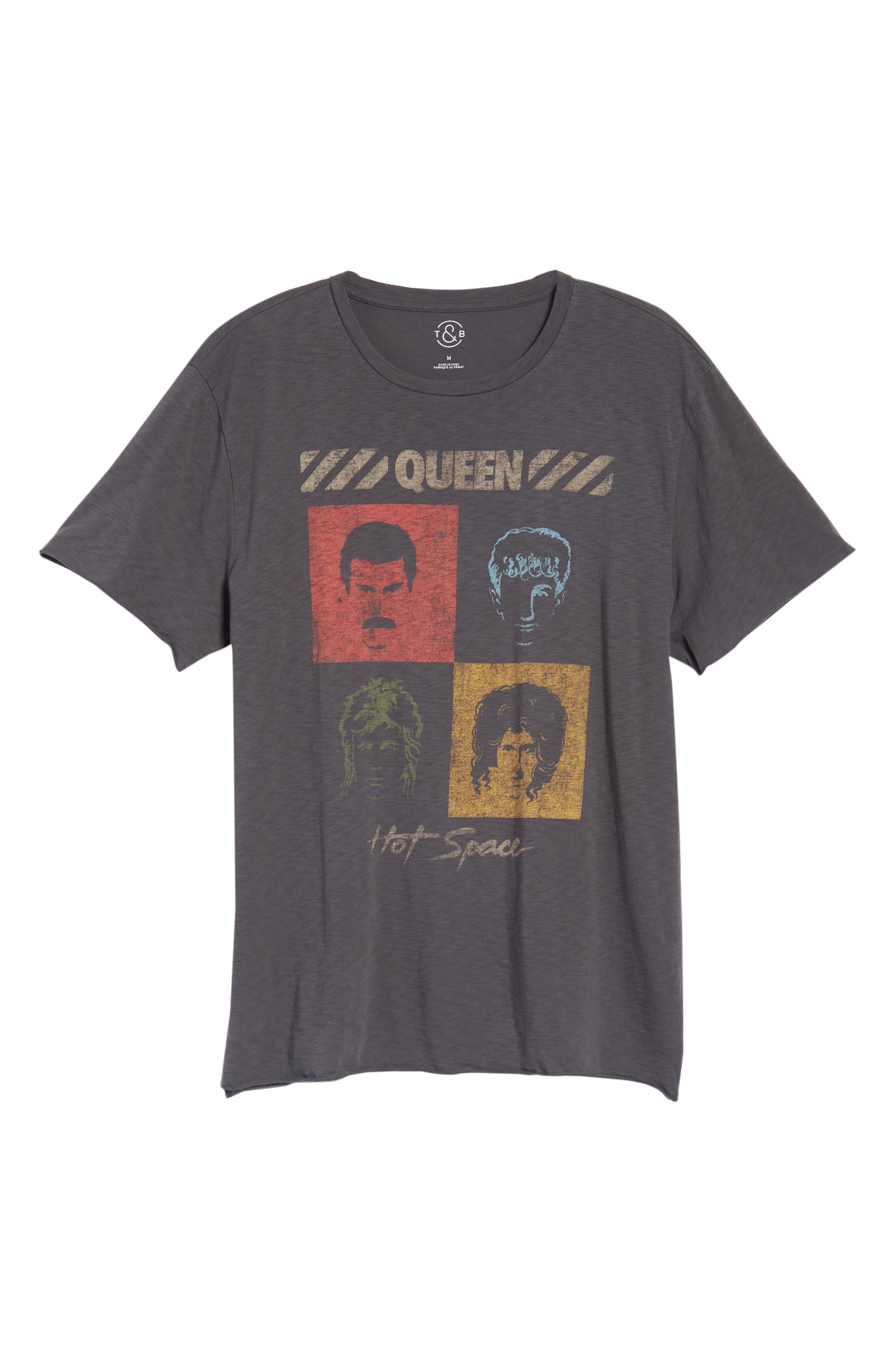 Queen Trim Fit T-Shirt,                             Alternate thumbnail 6, color,                             Grey Queen