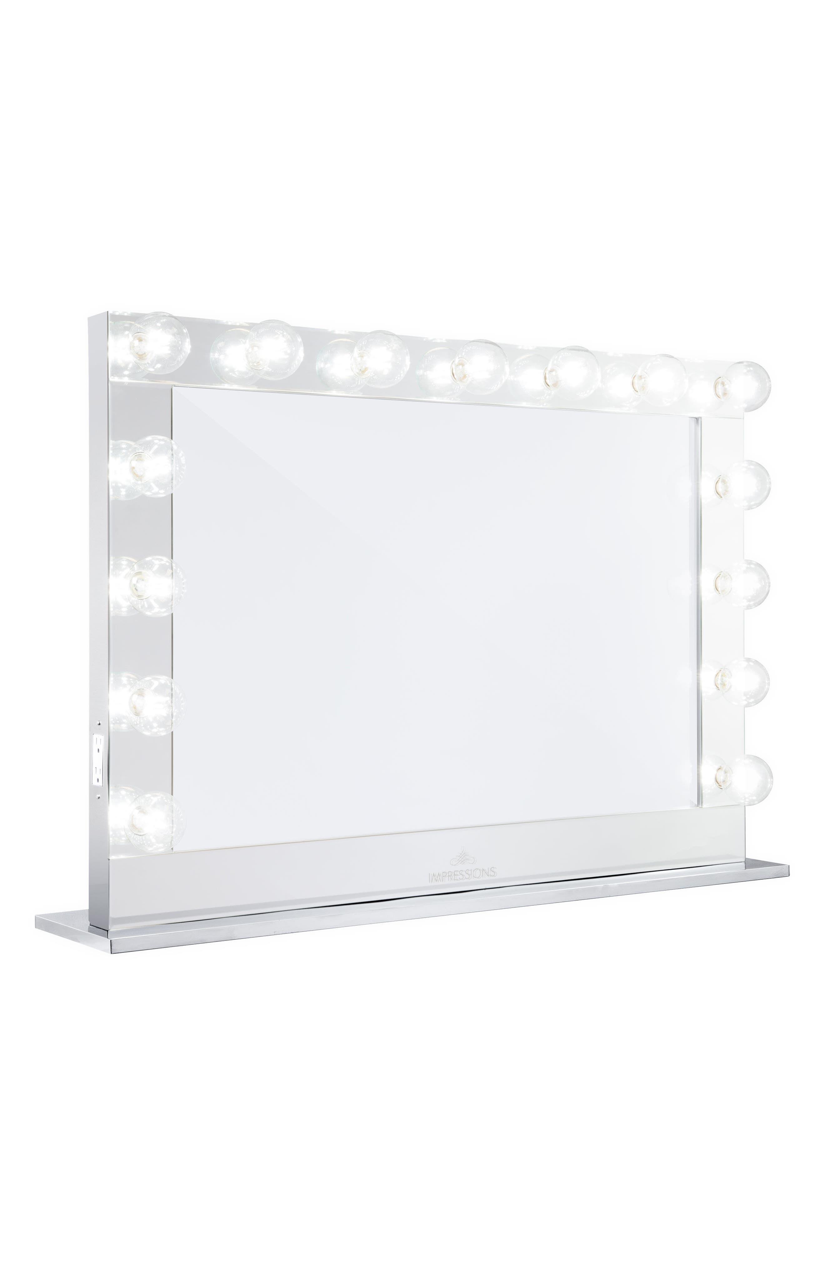 Hollywood Reflection<sup>®</sup> Pro Vanity Mirror,                             Main thumbnail 1, color,                             Clear