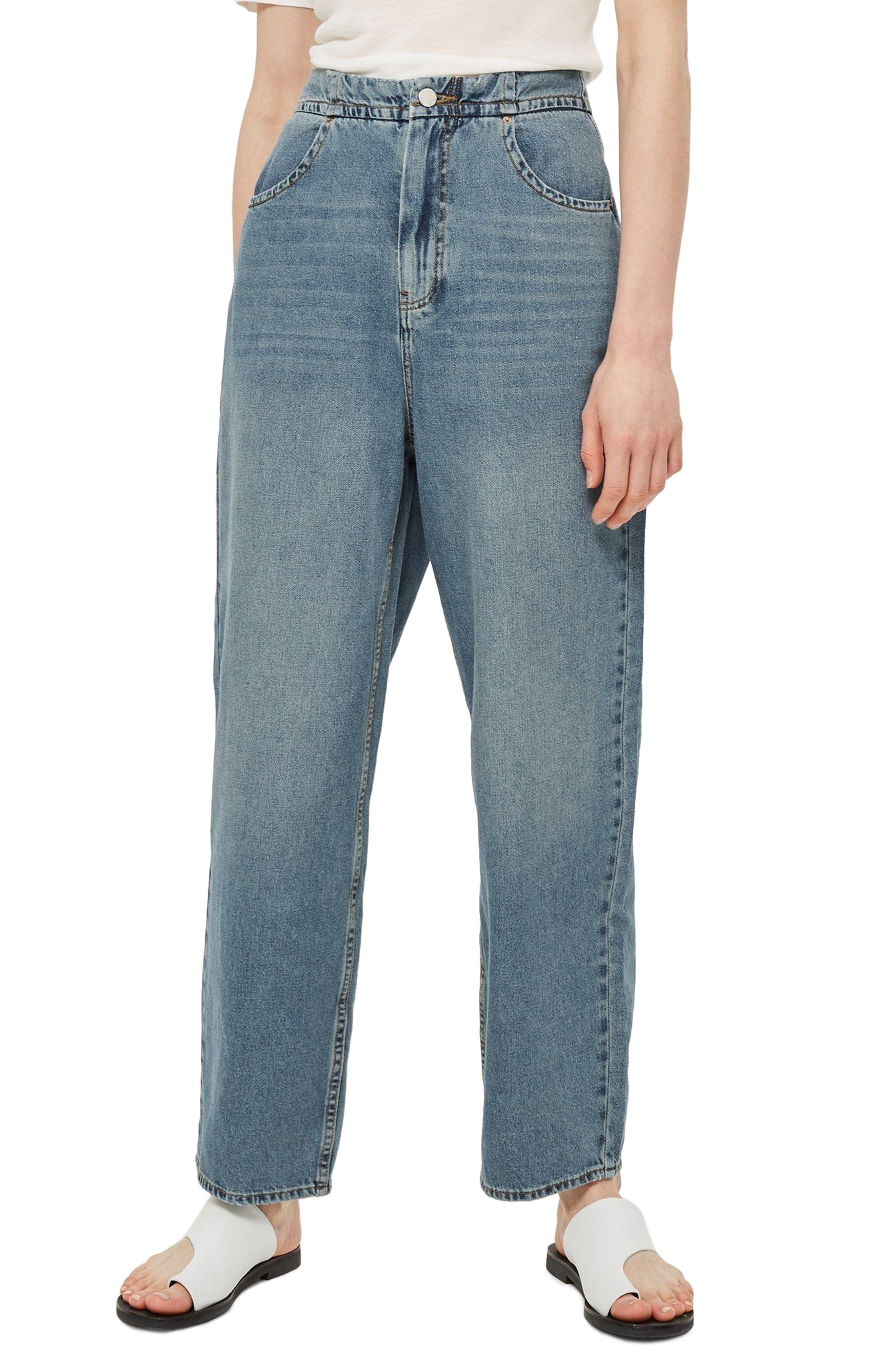 Slouch Cinch Jeans,                             Main thumbnail 1, color,                             Blue