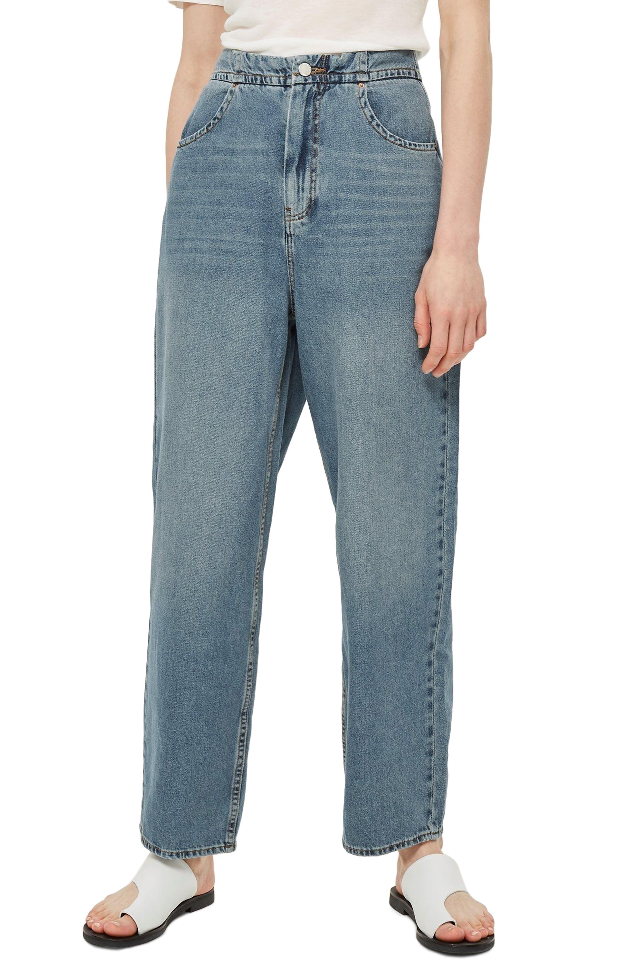 Slouch Cinch Jeans,                         Main,                         color, Blue