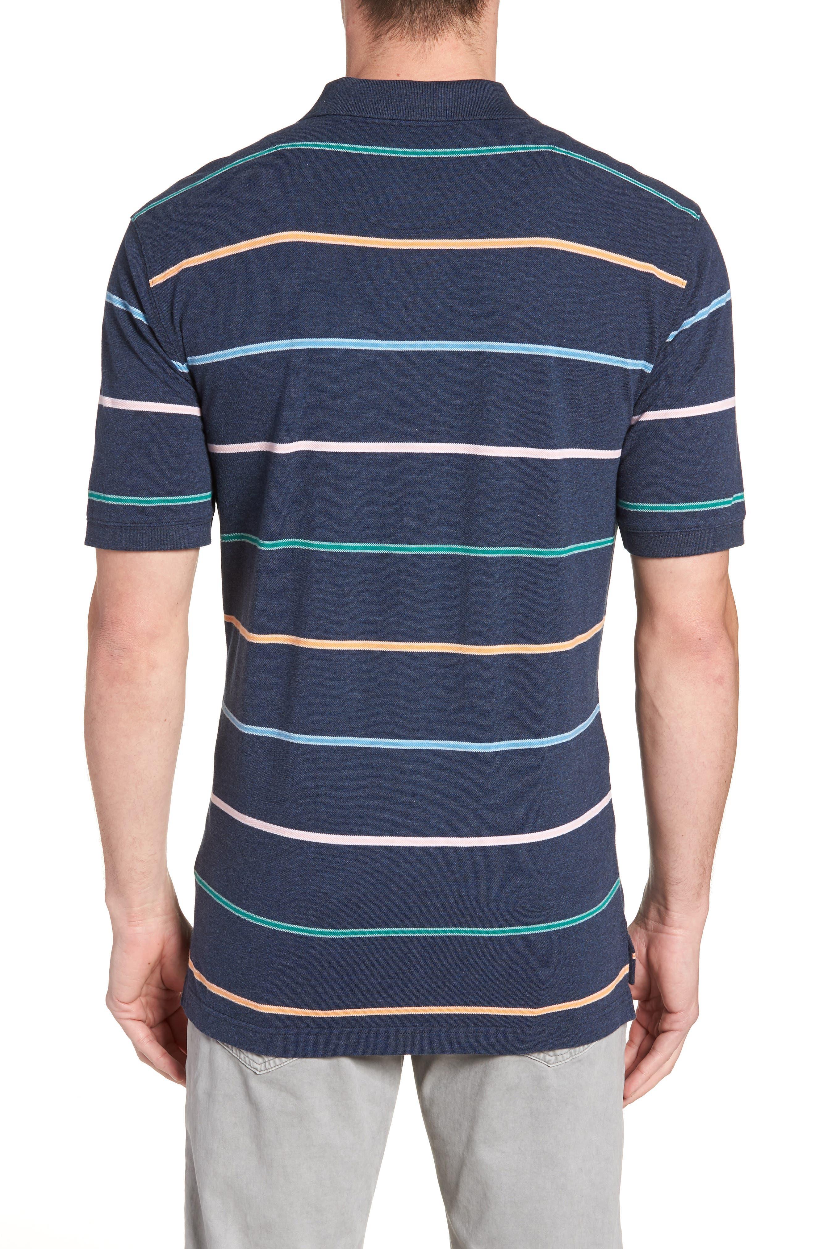 Caberfield Regular Fit Stripe Polo,                             Alternate thumbnail 2, color,                             Ocean