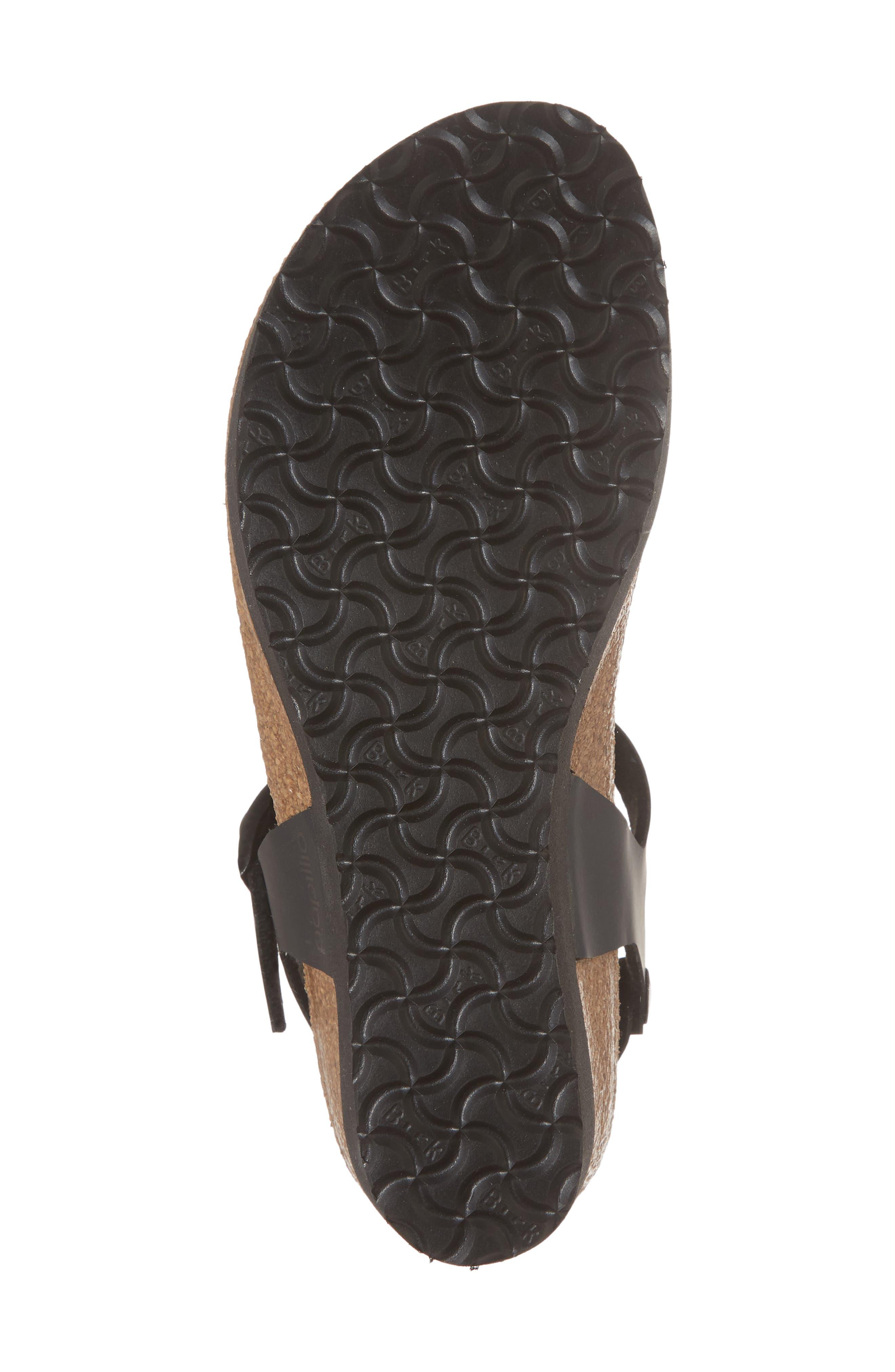 Ashley Sandal,                             Alternate thumbnail 6, color,                             Iridescent Black Leather