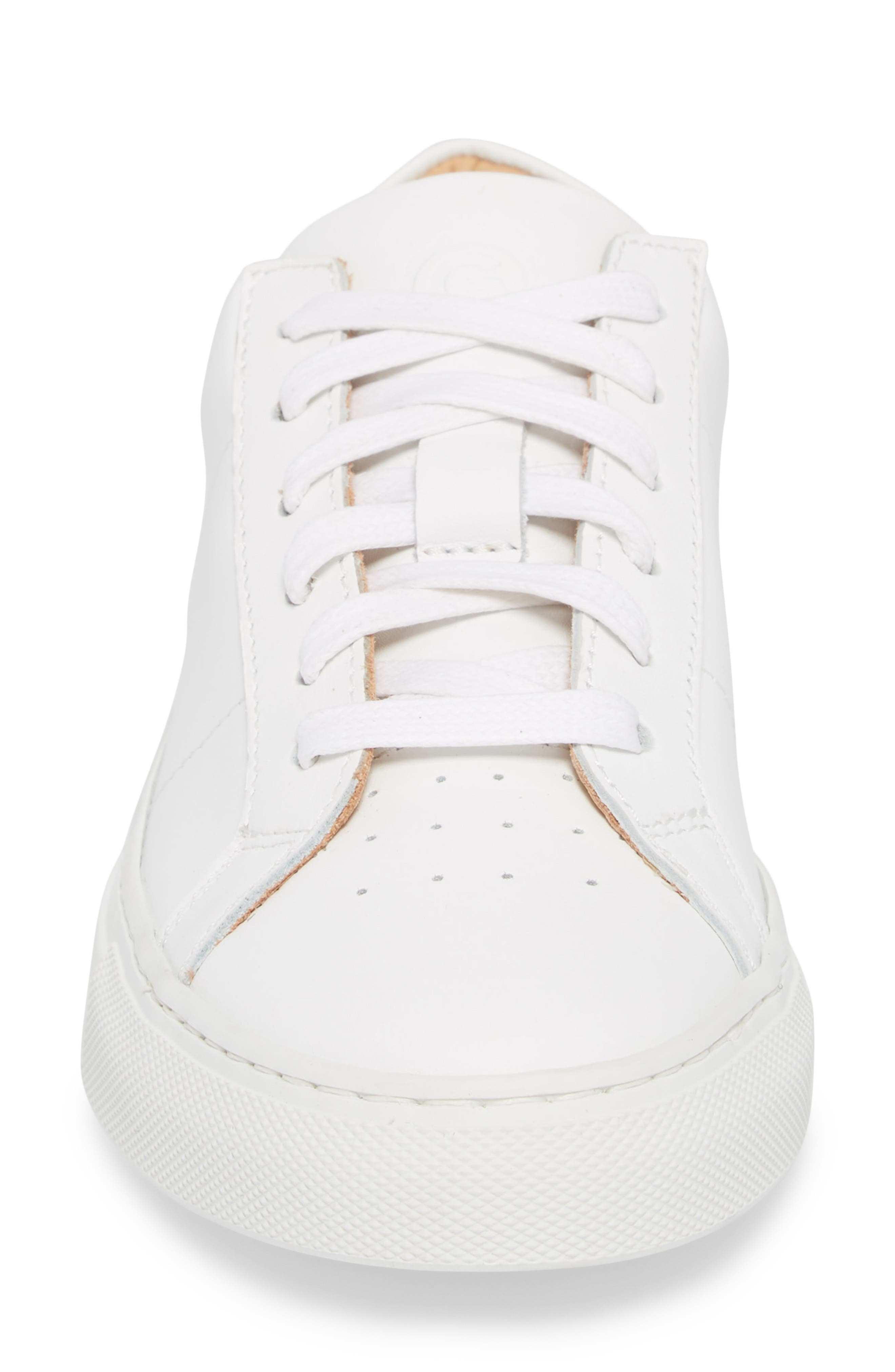 Royale Sneaker,                             Alternate thumbnail 4, color,                             White Flat Leather