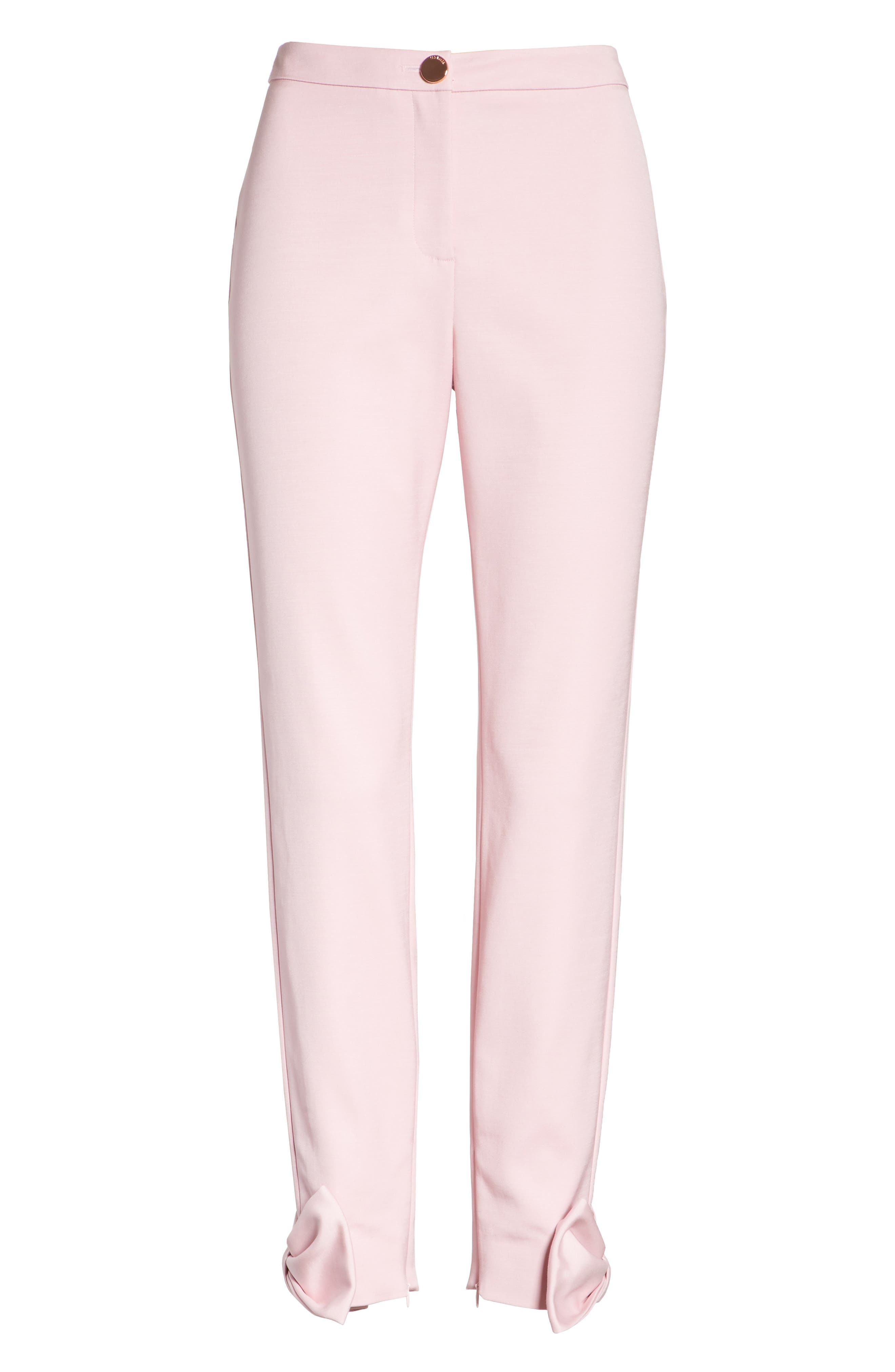 Toplyt Bow Cuff Ankle Pants,                             Alternate thumbnail 6, color,                             Lilac