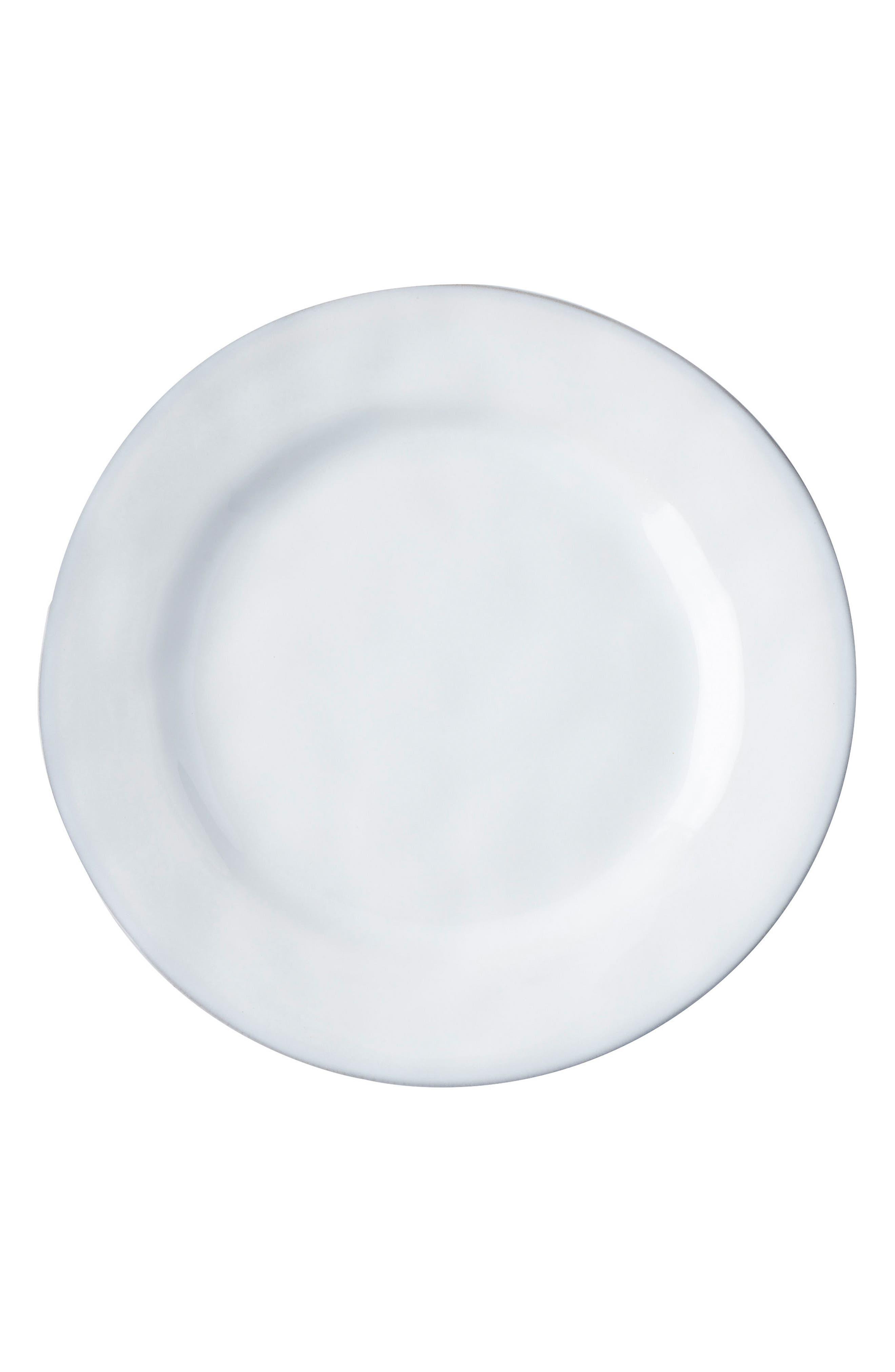 Quotidien White Truffle Dessert/Salad Plate,                             Main thumbnail 1, color,                             White