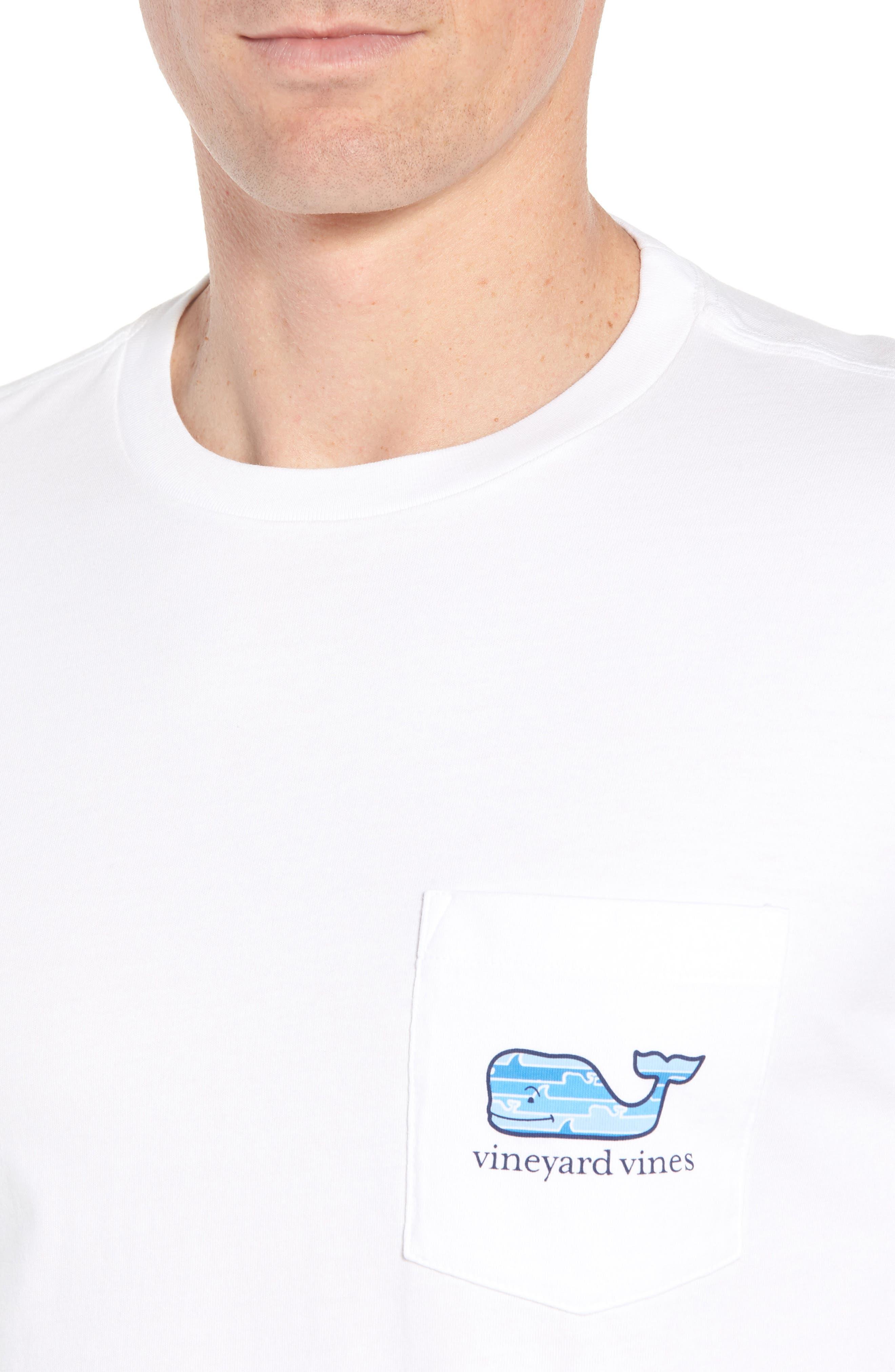 x Shark Week<sup>™</sup> Whaleline Long Sleeve Pocket T-Shirt,                             Alternate thumbnail 4, color,                             White Cap