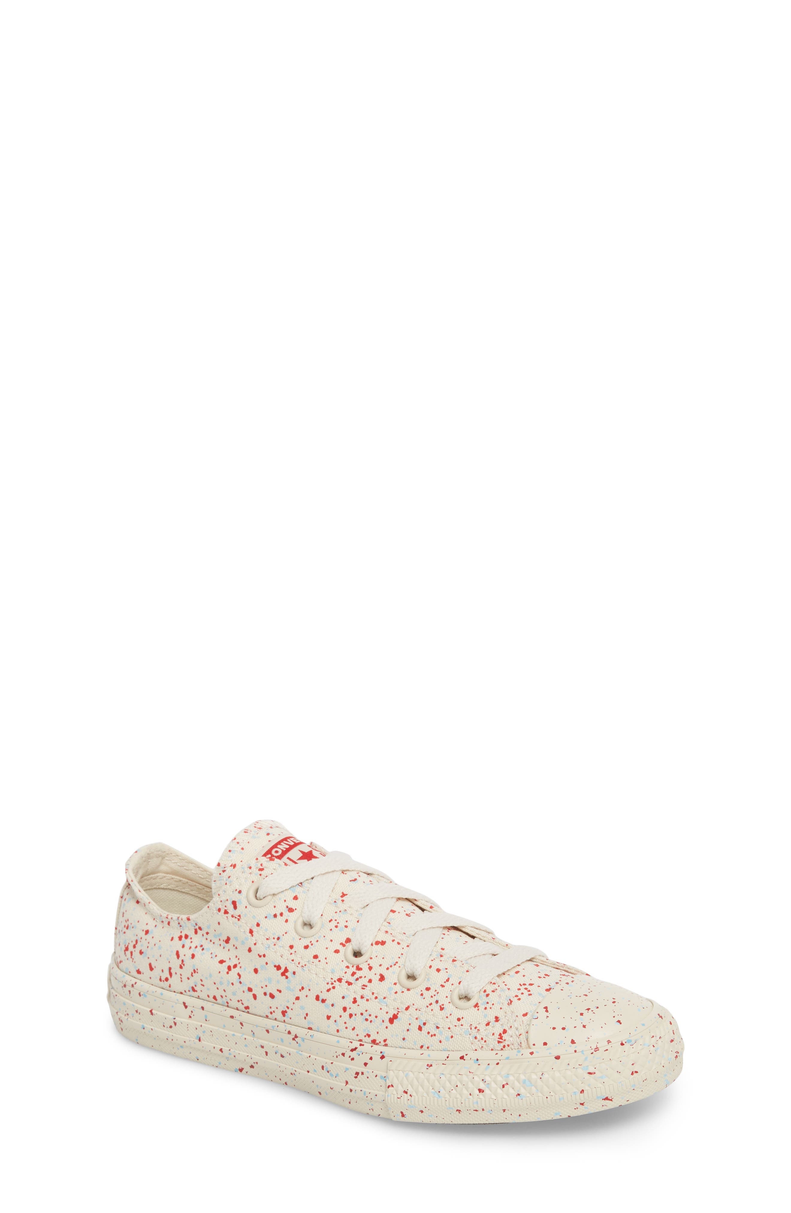 Chuck Taylor<sup>®</sup> All Star<sup>®</sup> Americana Speckle Oxford Sneaker,                             Main thumbnail 1, color,                             Driftwood
