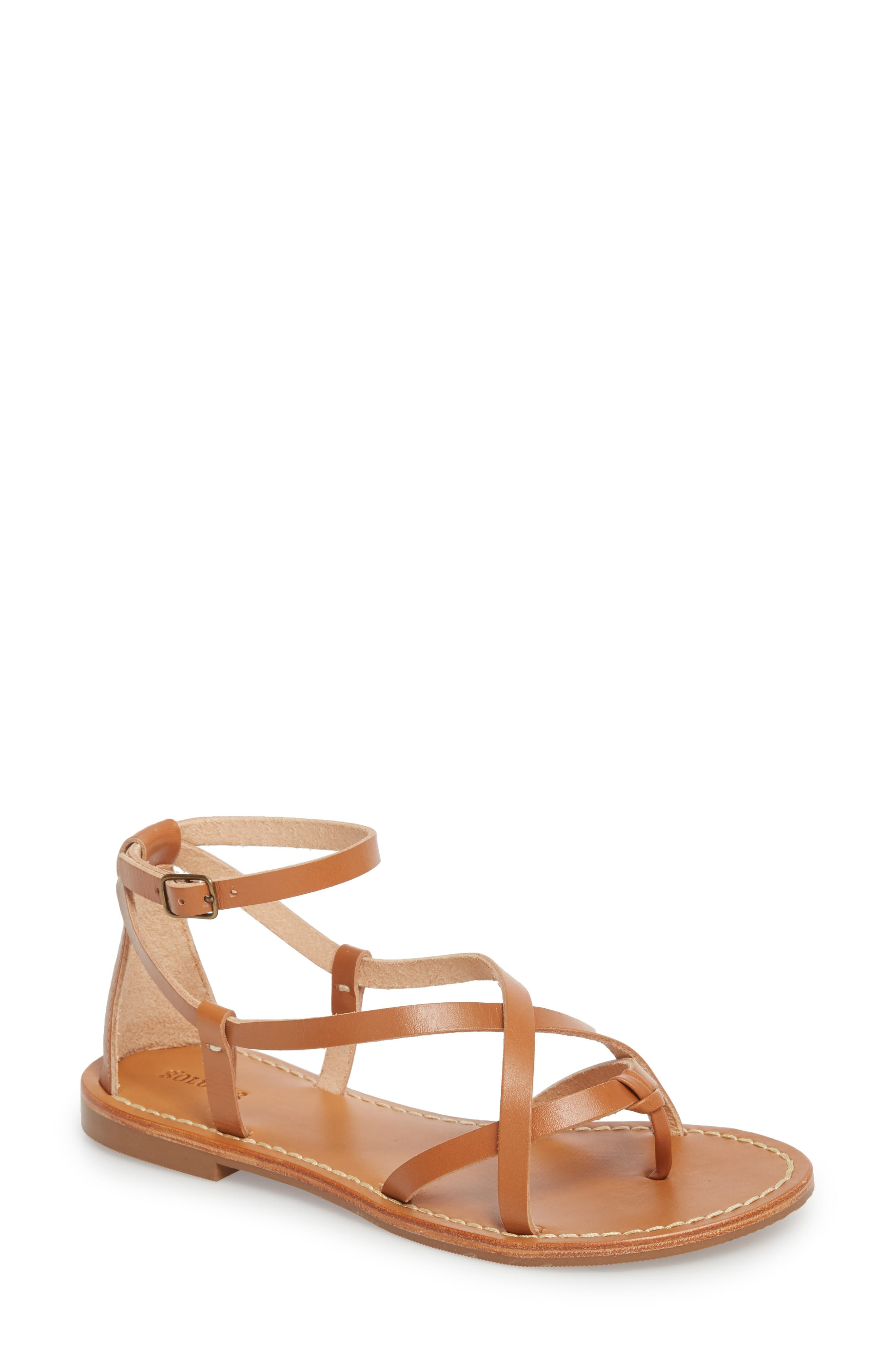 Strappy Sandal,                             Main thumbnail 1, color,                             Nude