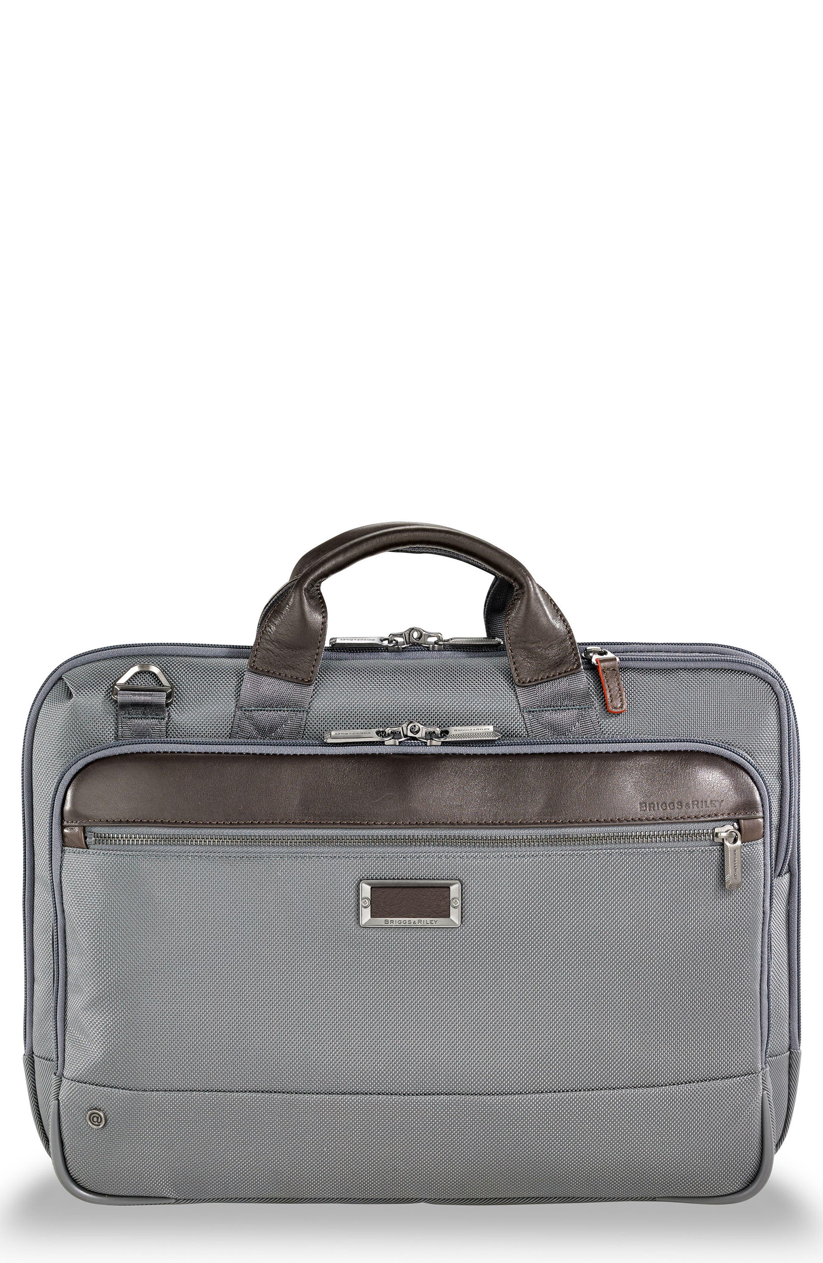 @work Slim Briefcase,                         Main,                         color, Grey