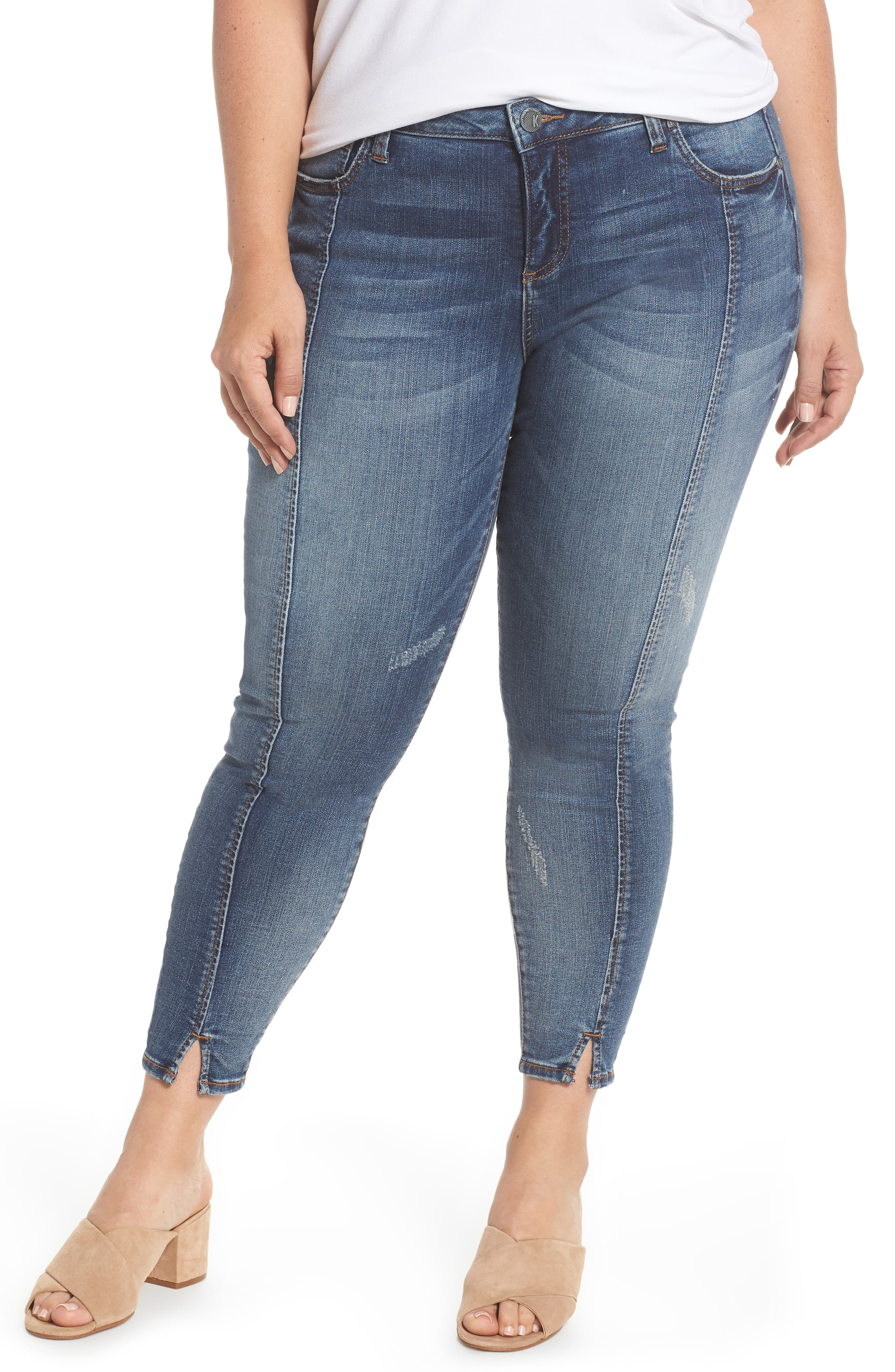 Reese Seam Ankle Skinny Jeans,                             Main thumbnail 1, color,                             Poetic