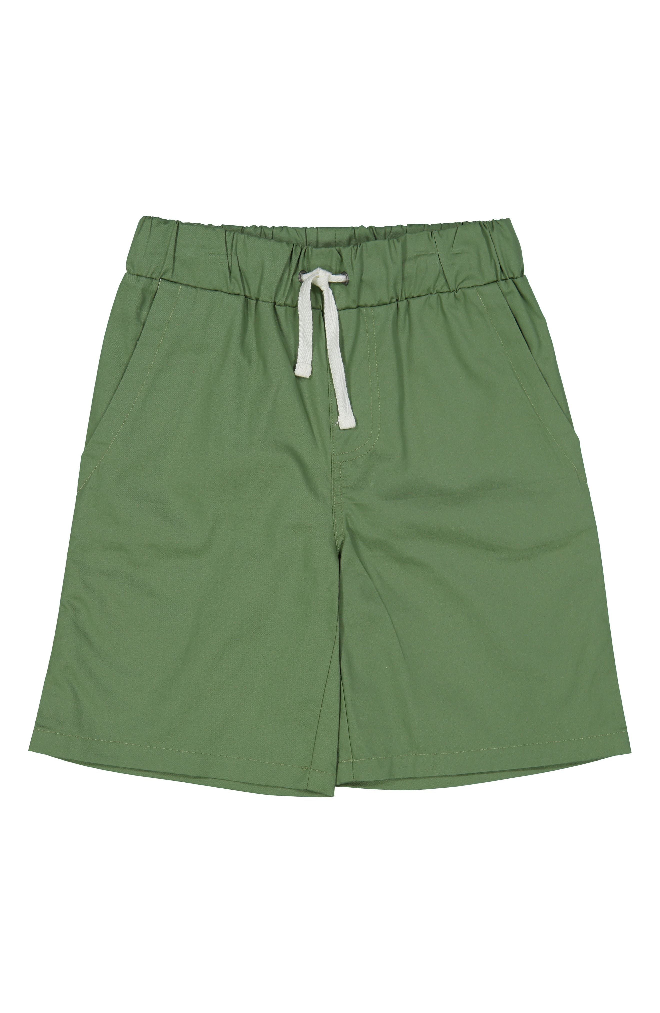 Moss Pull-On Shorts,                         Main,                         color, Green