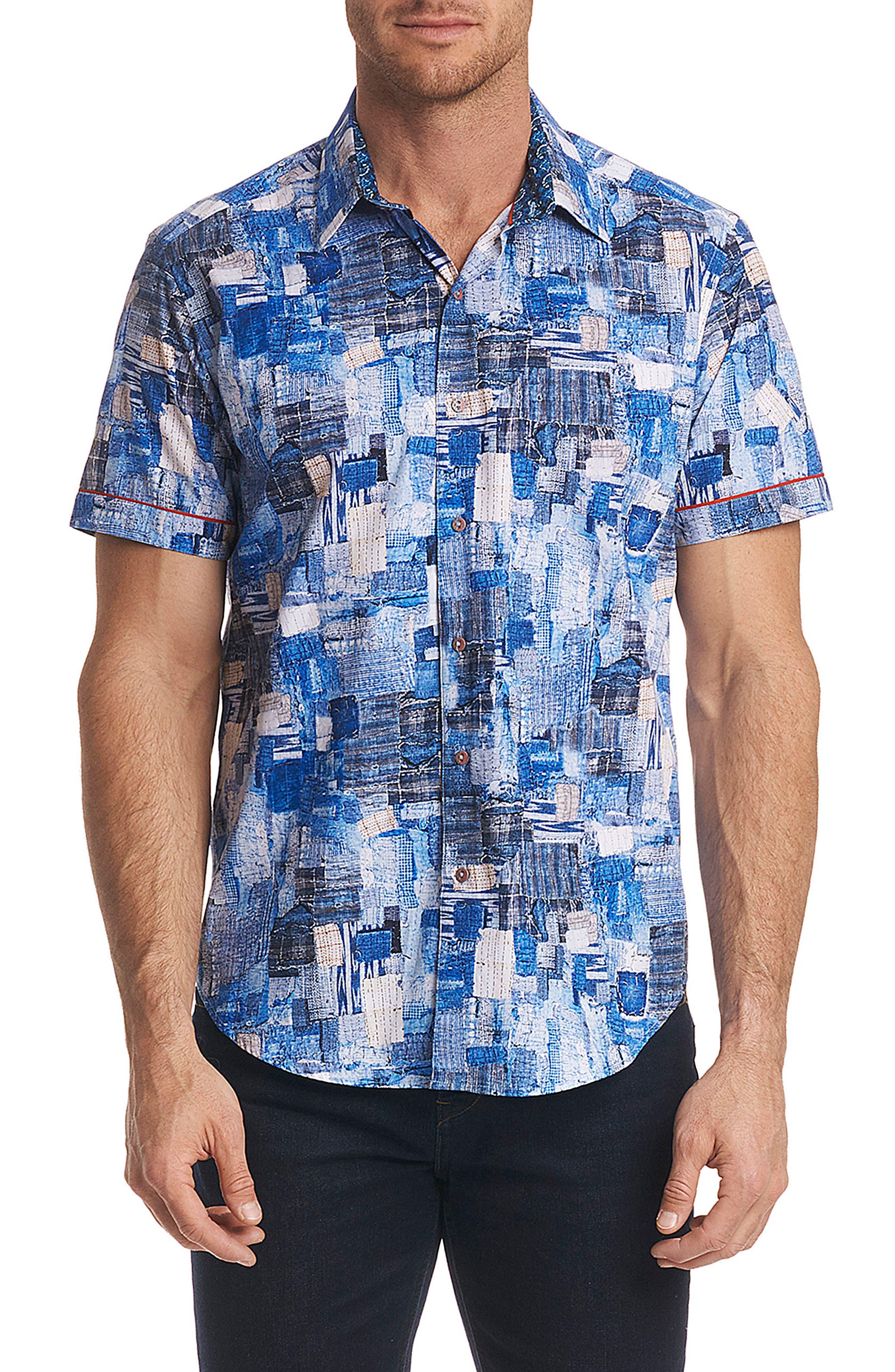 Canberra Classic Fit Sport Shirt,                         Main,                         color, Blue