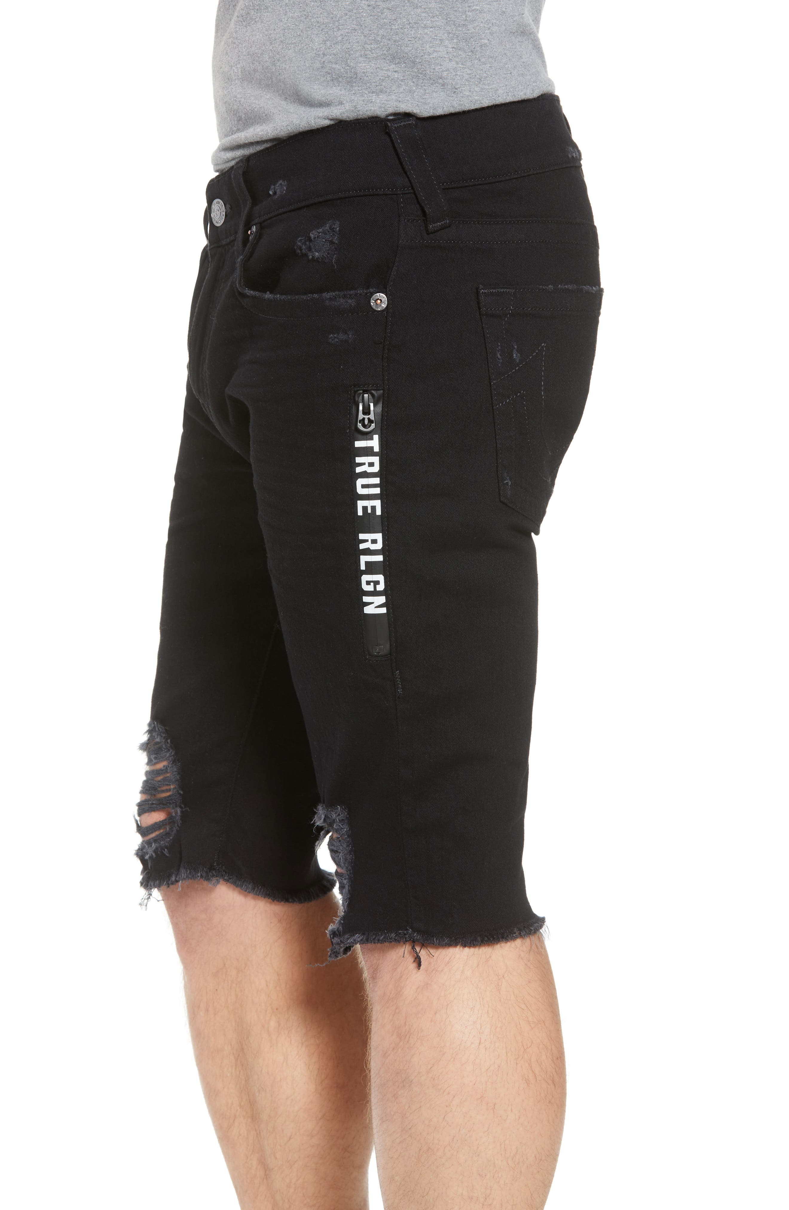 Ricky Relaxed Fit Shorts,                             Alternate thumbnail 4, color,                             Chalkboard