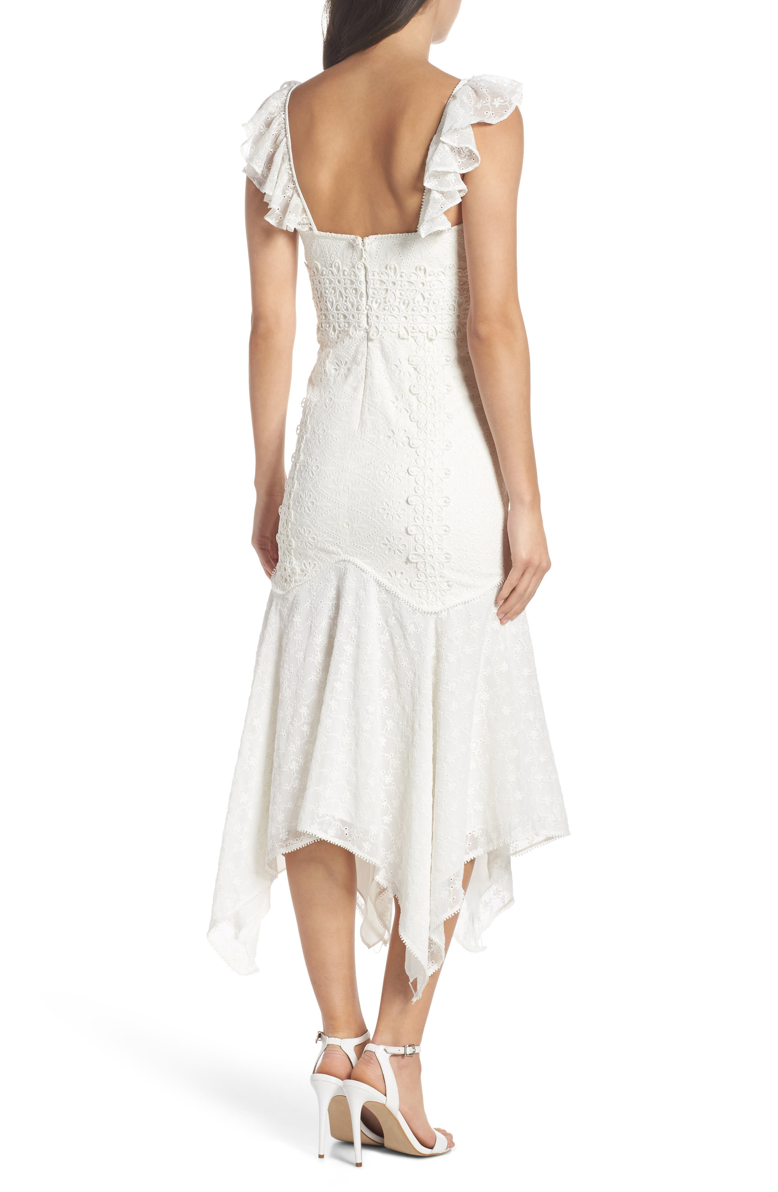 Broderie Anglaise Dress,                             Alternate thumbnail 2, color,                             White