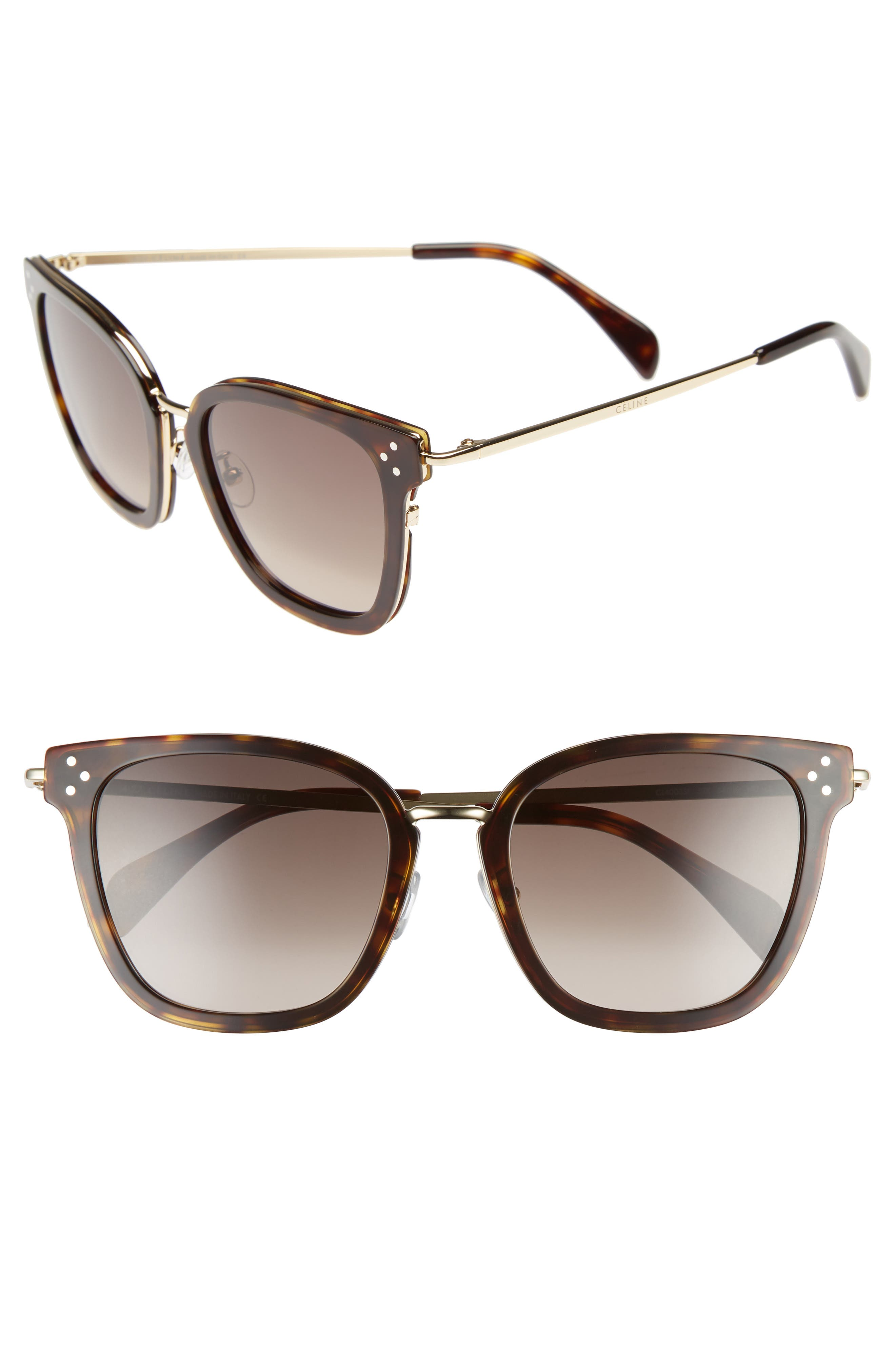 Special Fit 54mm Sunglasses,                         Main,                         color, Havana/ Gold/ Brown