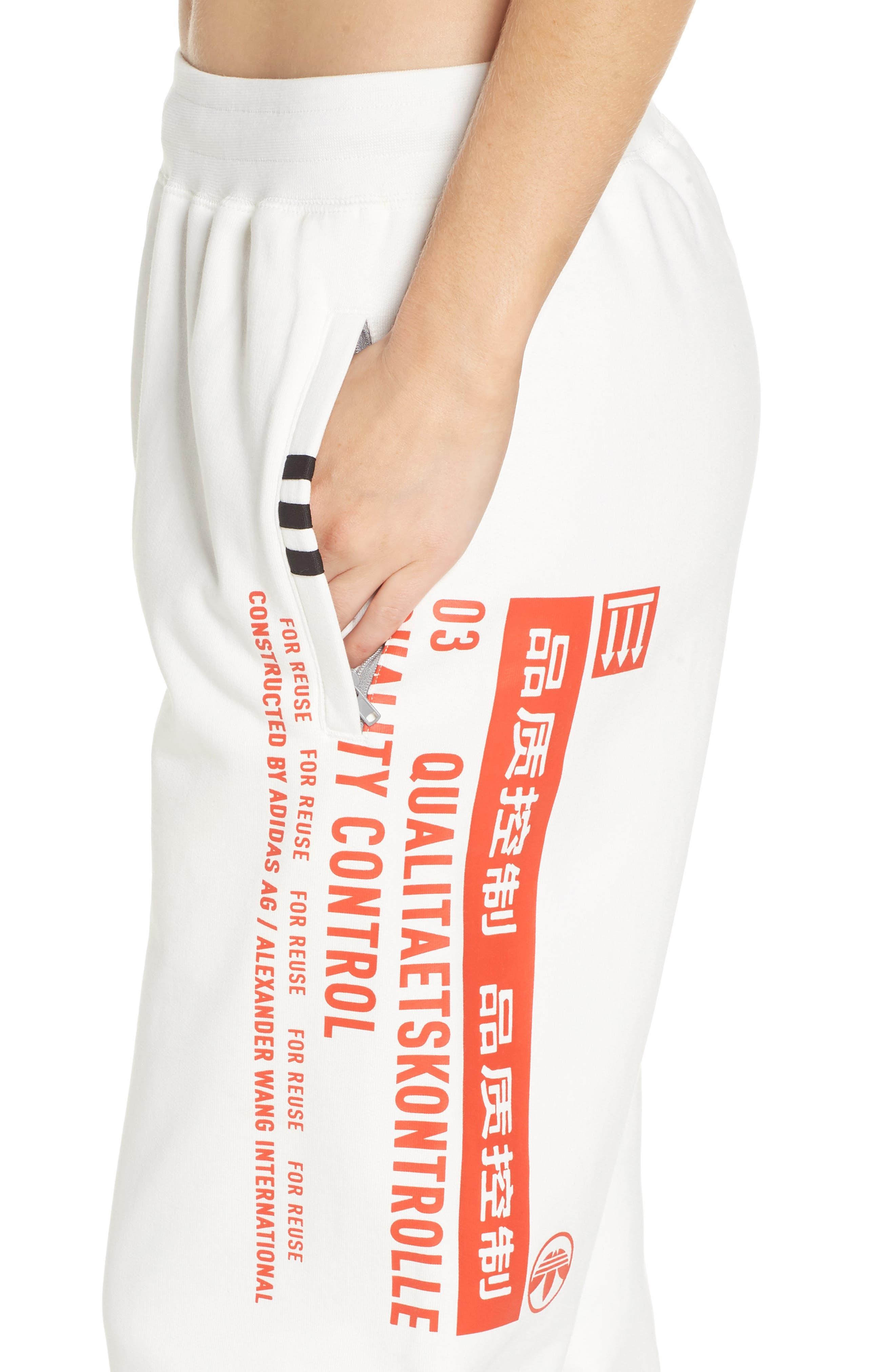 Graphite Jogger Pants,                             Alternate thumbnail 4, color,                             White/ Orange/ Black