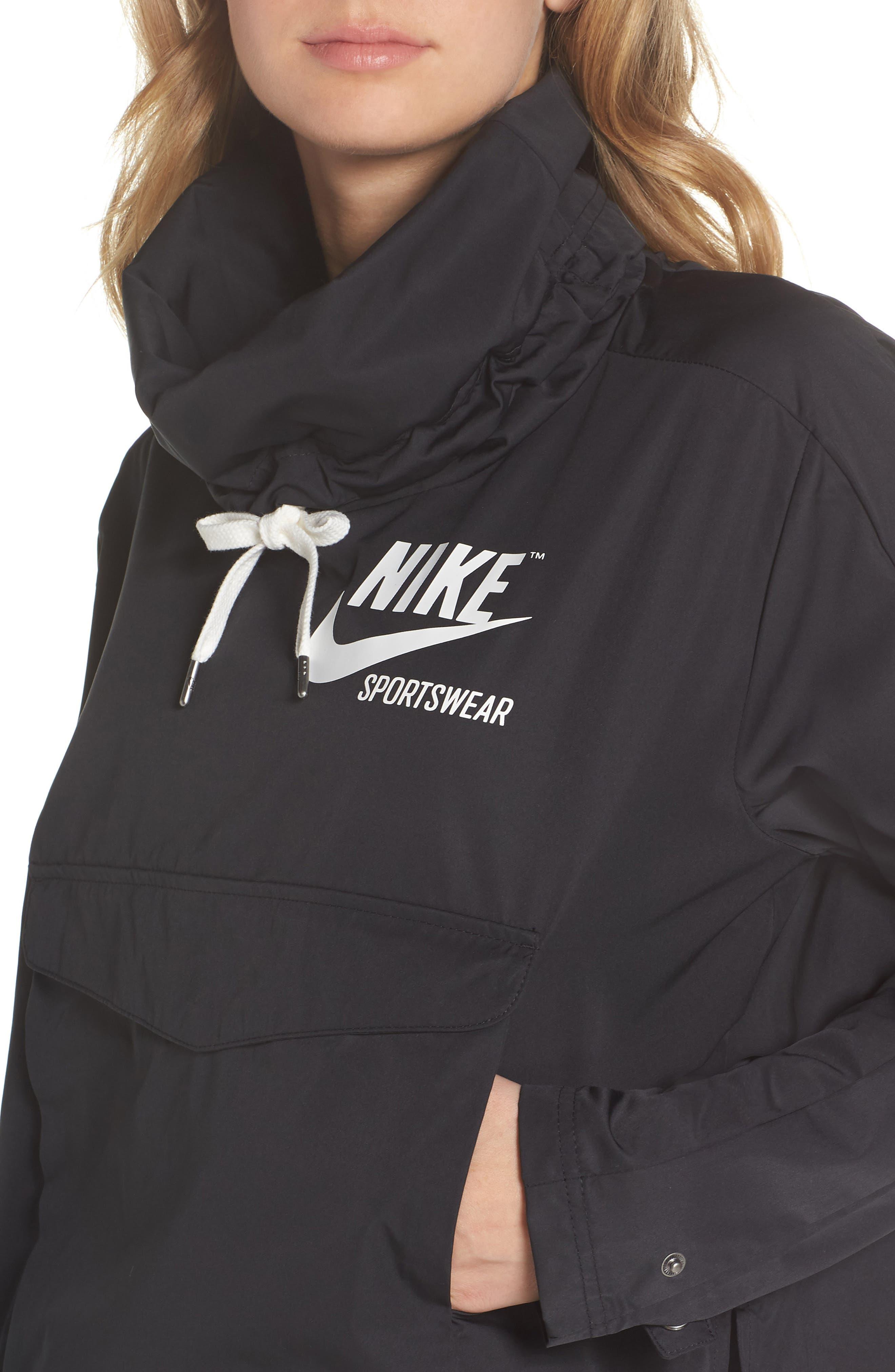 Sportswear Archive Jacket,                             Alternate thumbnail 4, color,                             Black/ Black