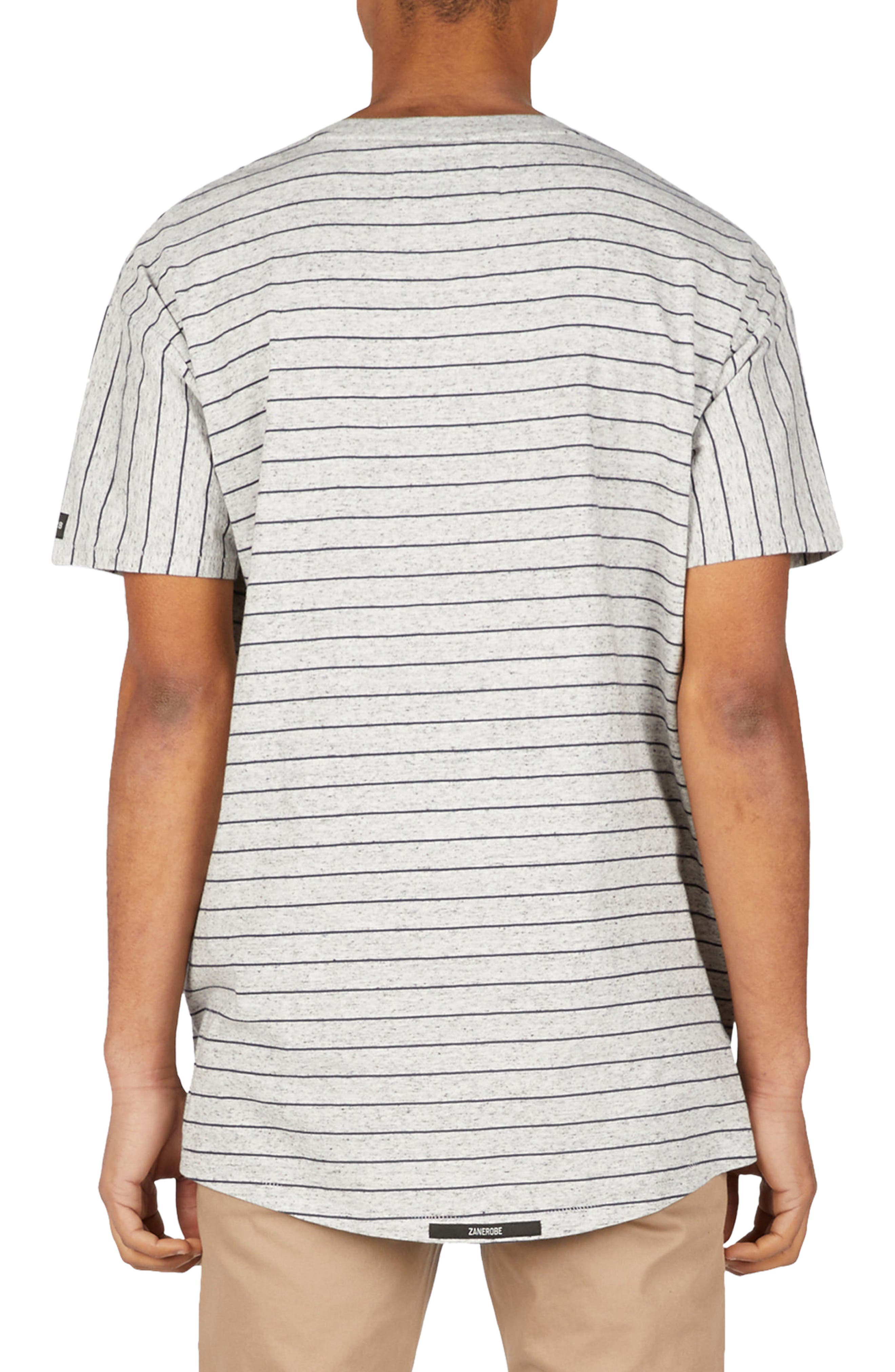 Stripe Rugger T-Shirt,                             Alternate thumbnail 2, color,                             Storm Marle/ Duke Blue