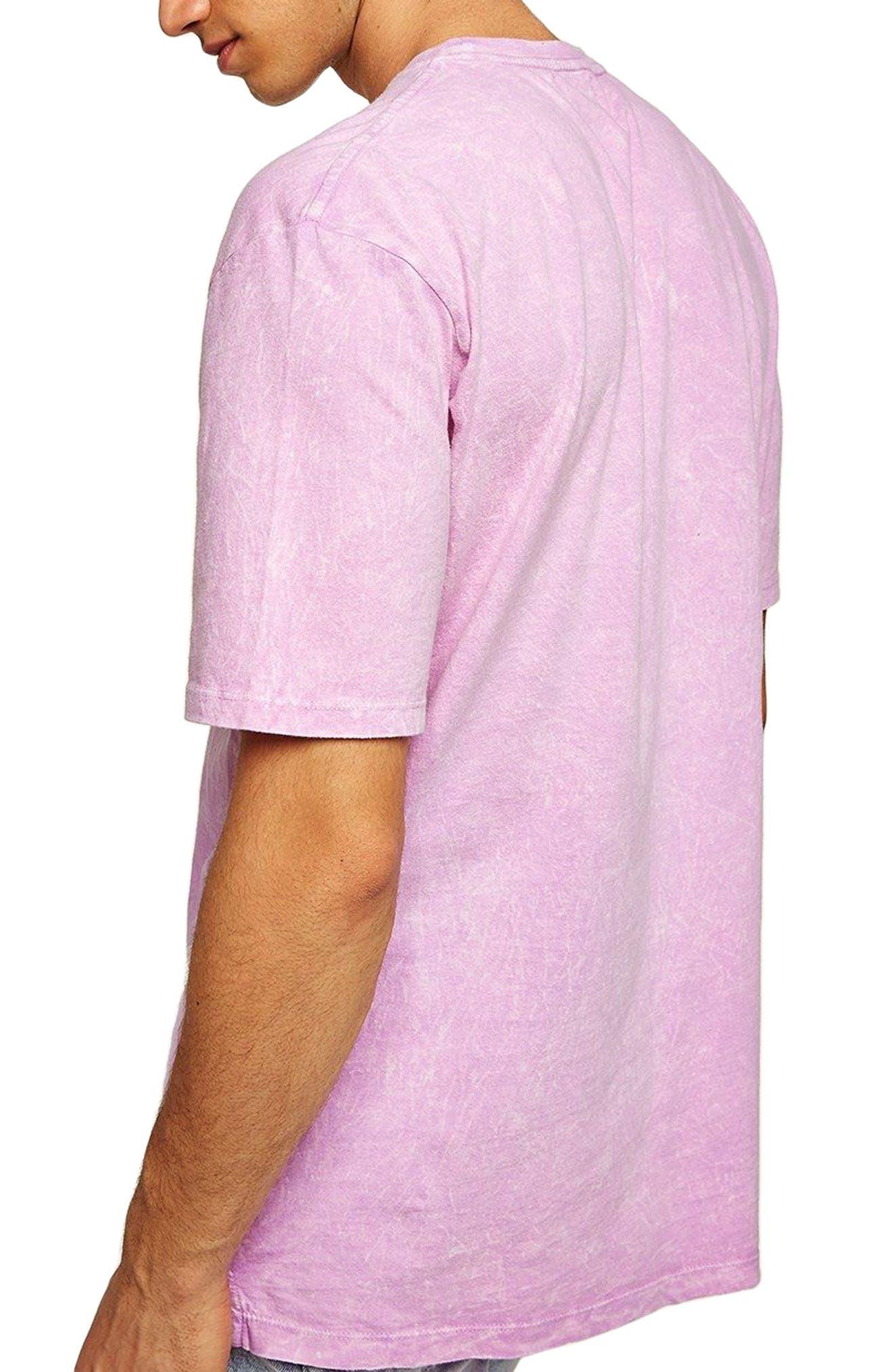 Acid Wash Pocket T-Shirt,                             Alternate thumbnail 2, color,                             Pink Multi
