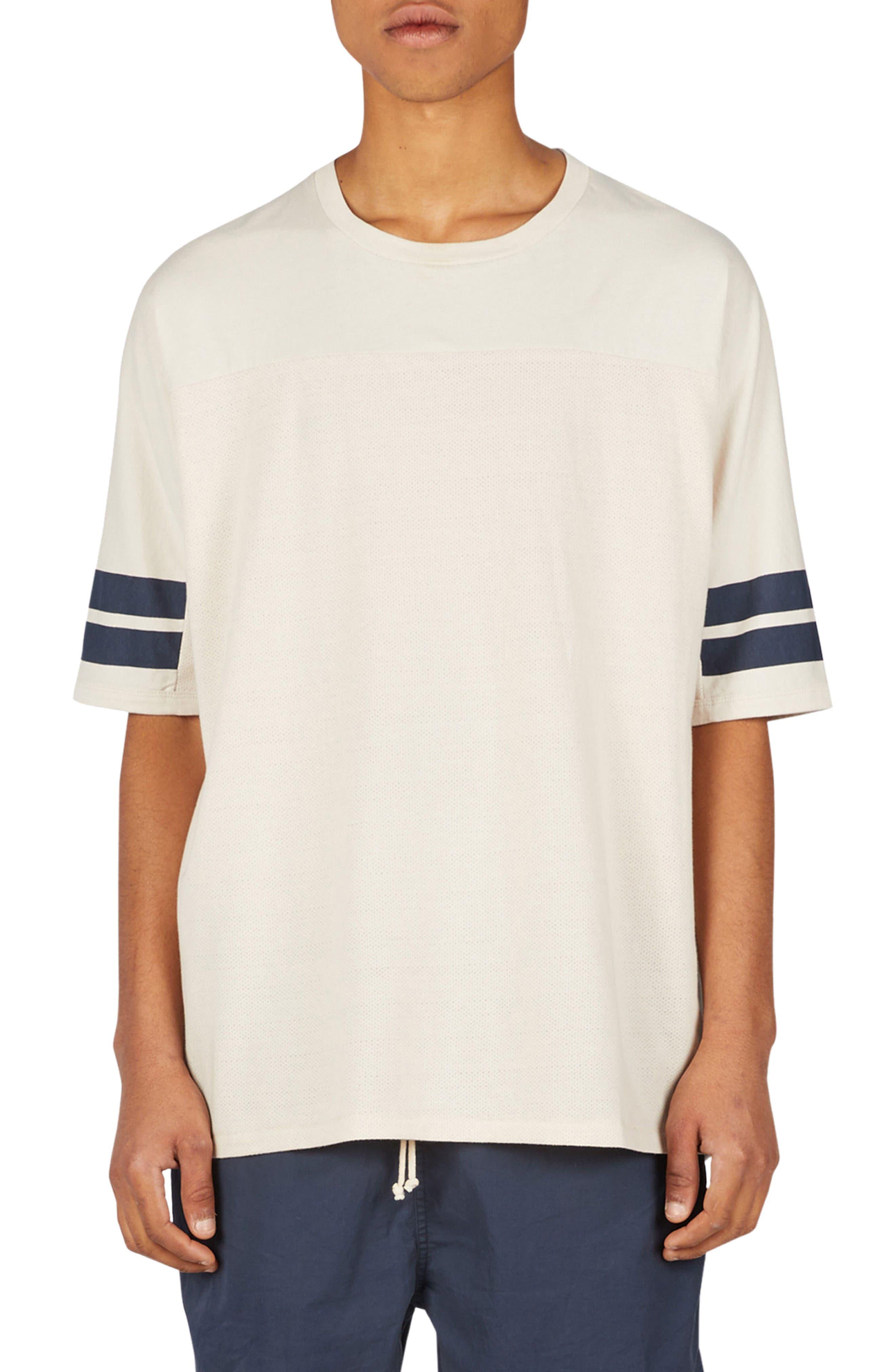 Quarterback Rugger T-Shirt,                             Main thumbnail 1, color,                             Natural