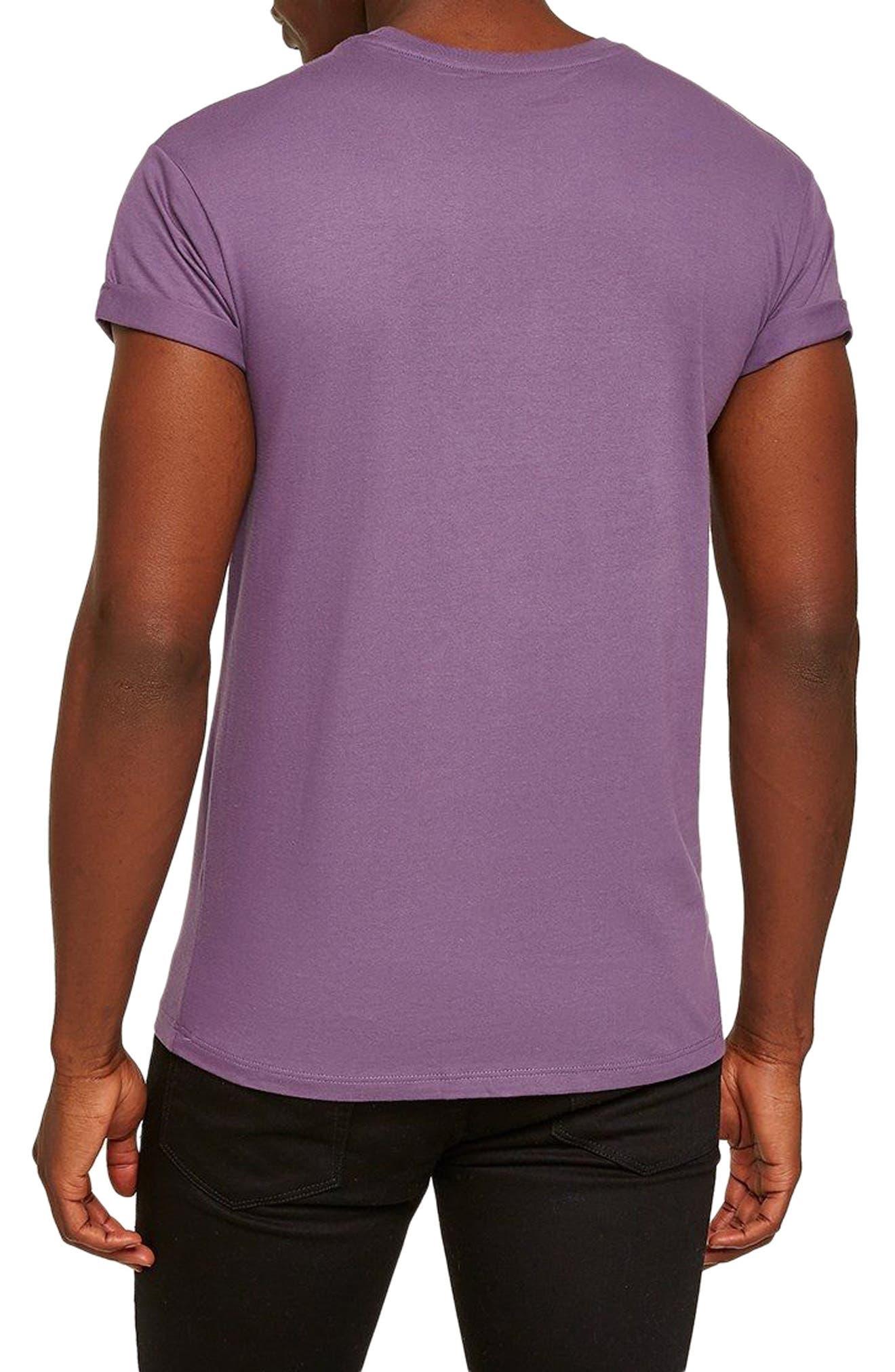 Muscle Fit Roller T-Shirt,                             Alternate thumbnail 2, color,                             Medium Purple