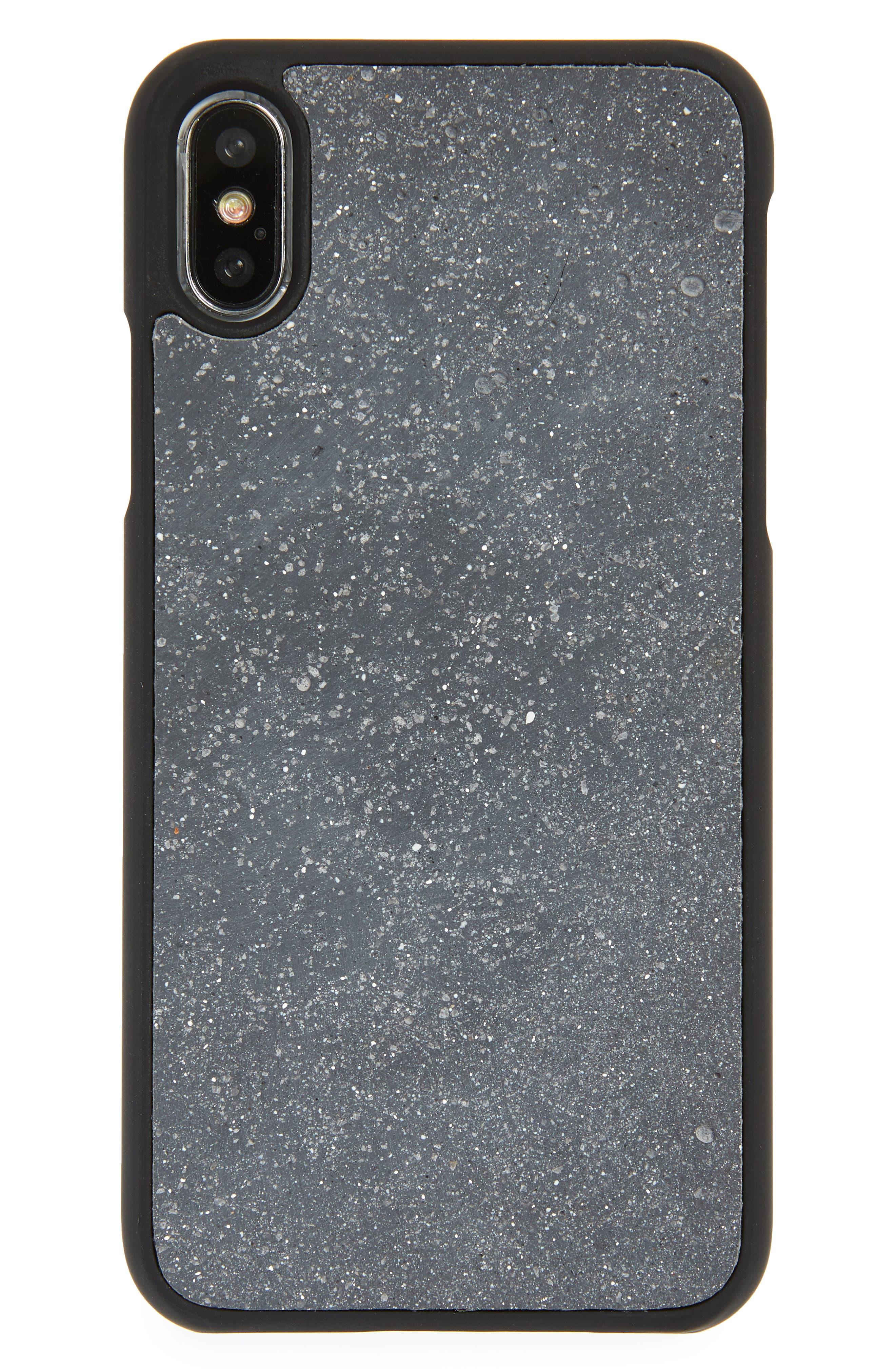 Concrete iPhone X Case,                         Main,                         color, Grey