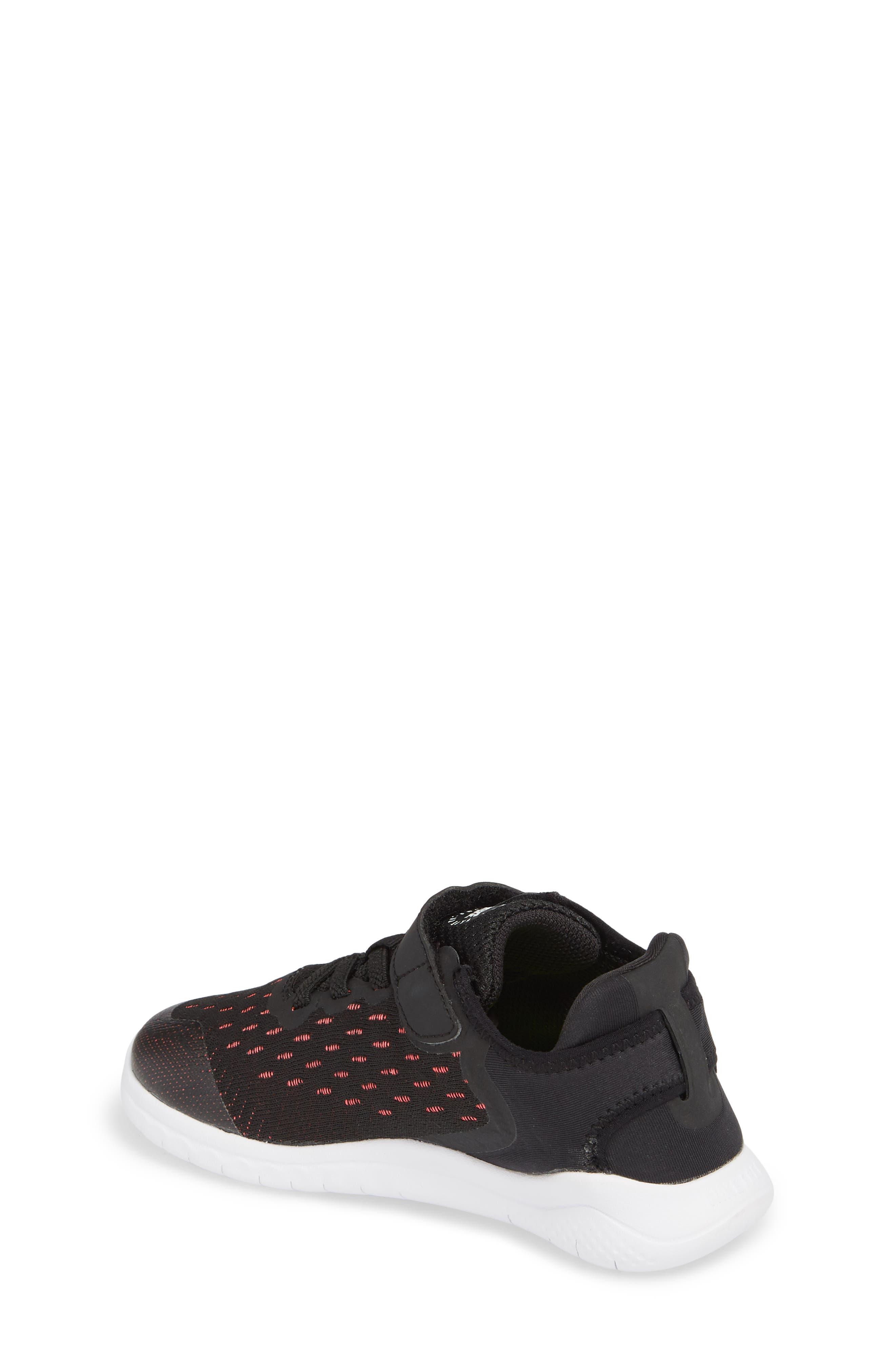 Free RN Running Shoe,                             Alternate thumbnail 2, color,                             Black/ White/ Pink/ Volt