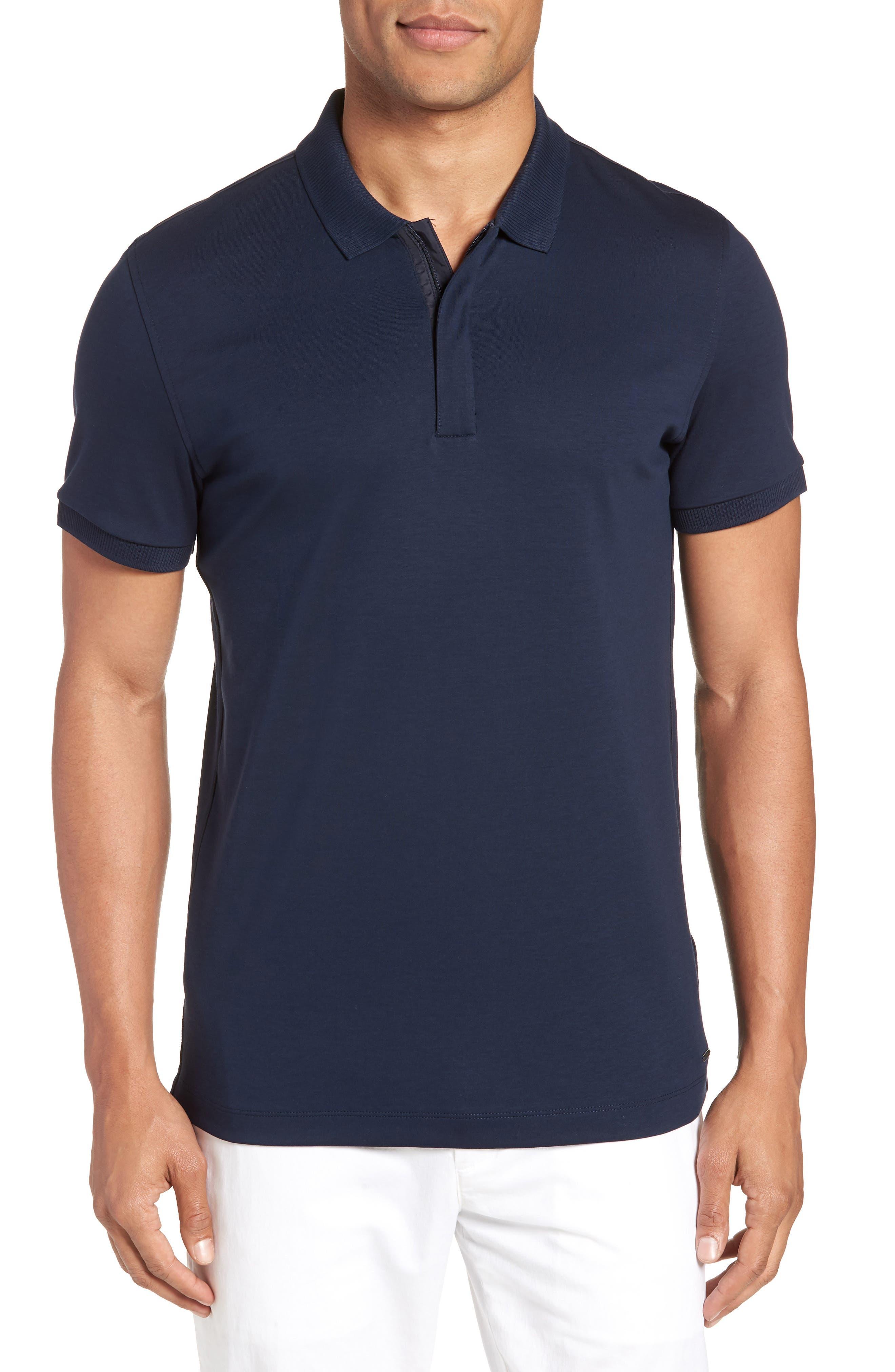 Pohl Polo Shirt,                         Main,                         color, Blue