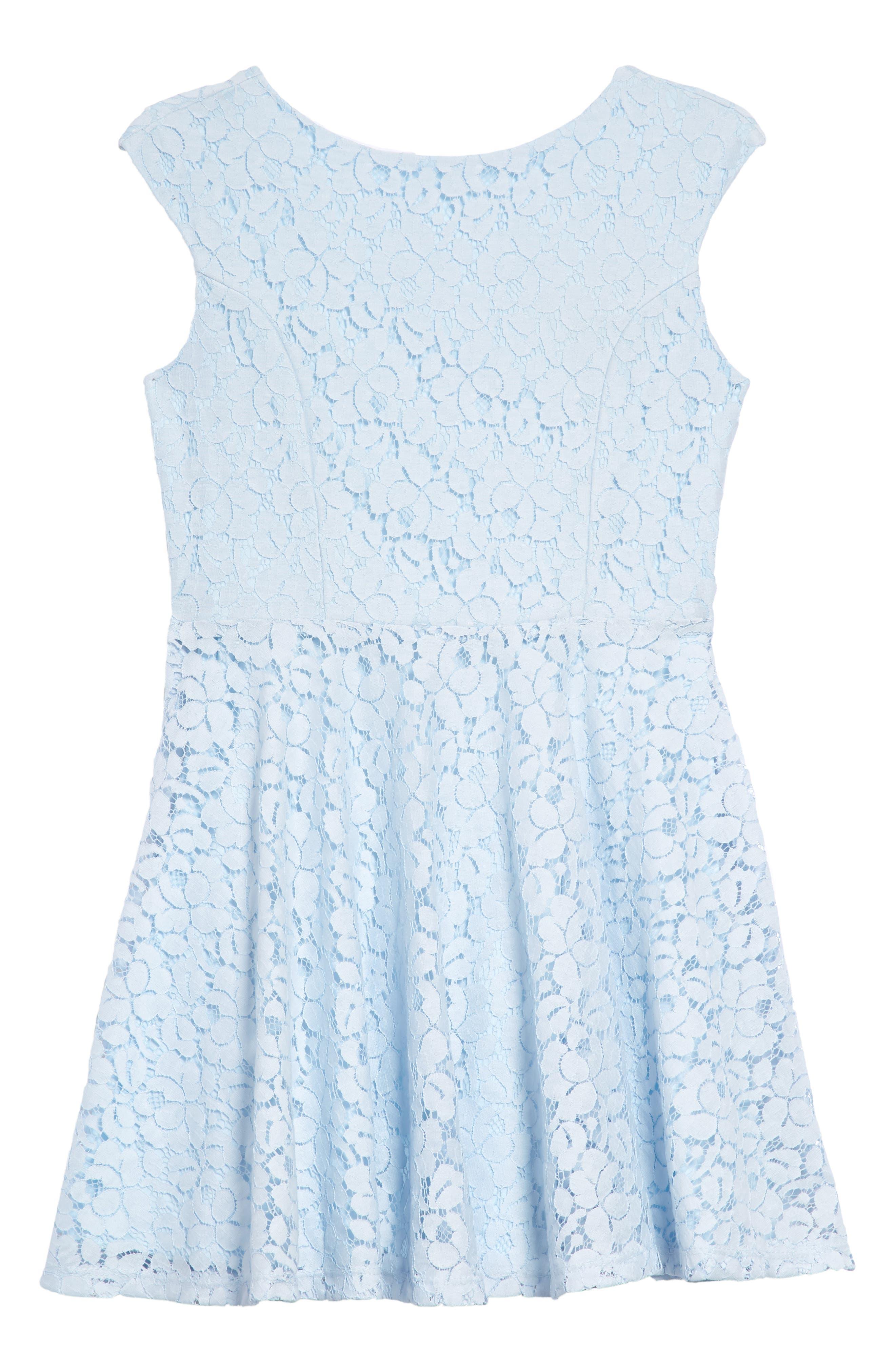 Un Deux Trois Floral Lace Skater Dress (Big Girls)