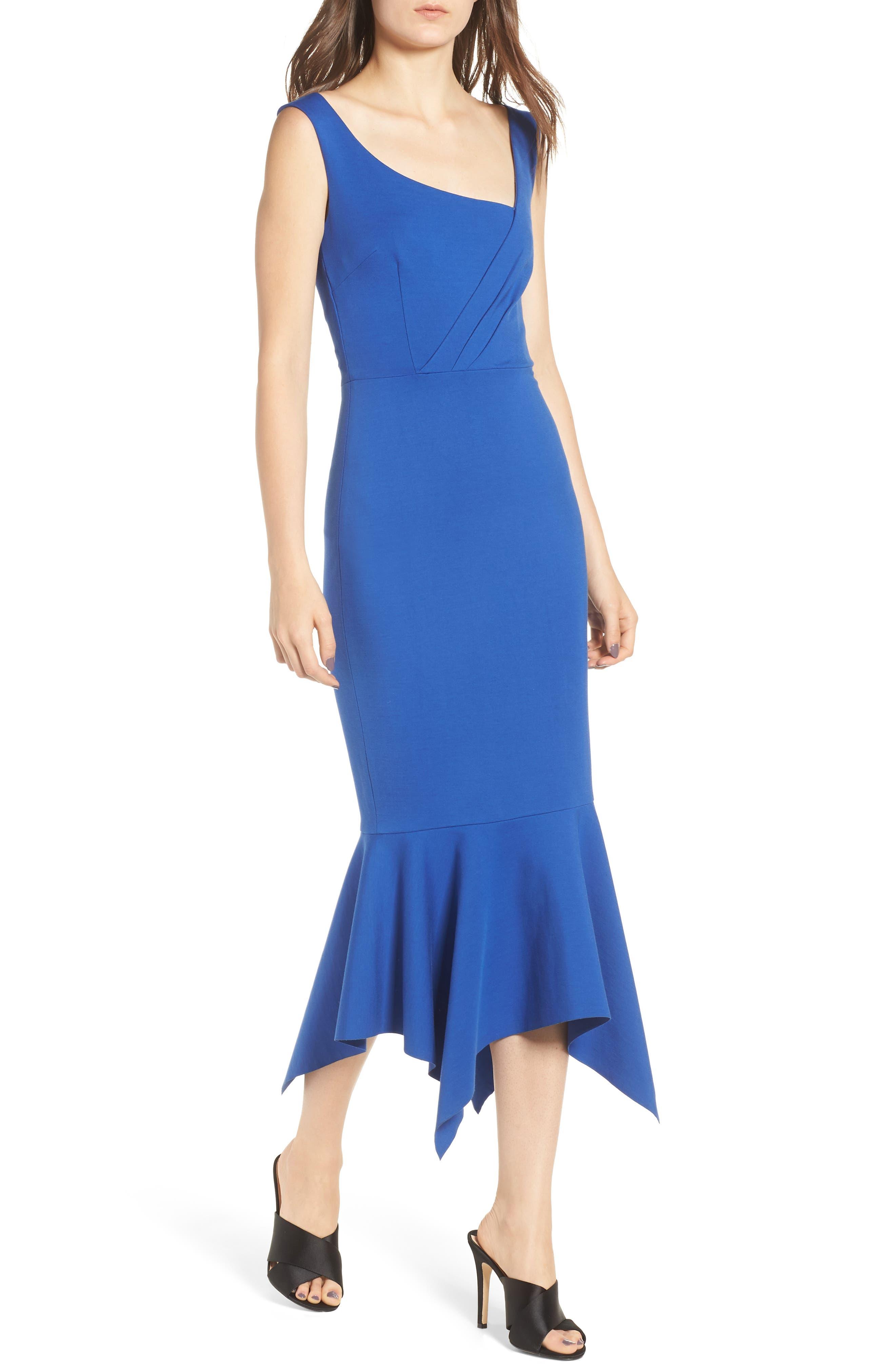 Viola Asymmetrical Dress,                             Main thumbnail 1, color,                             Cobalt