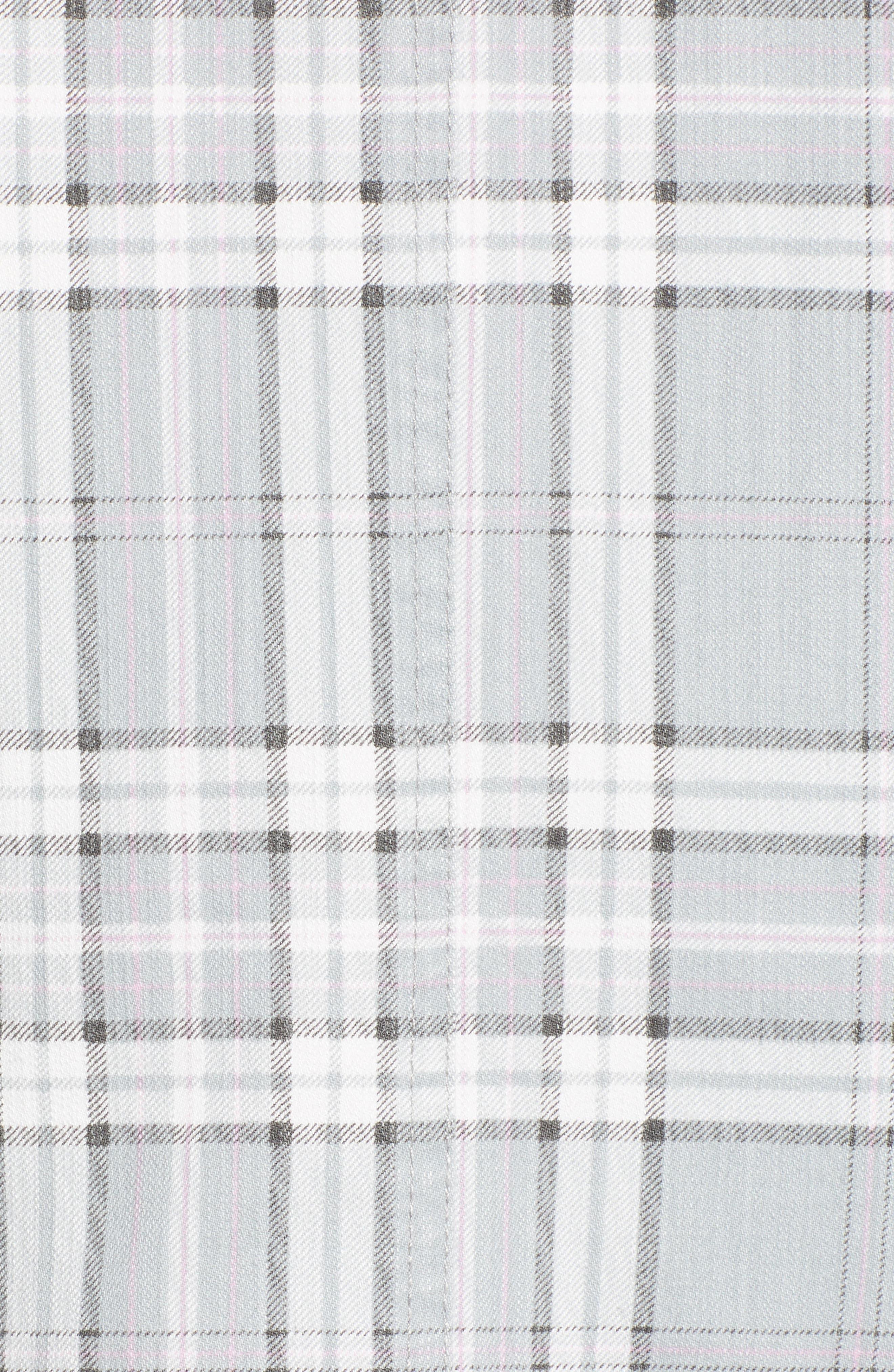 Lila Plaid Blazer,                             Alternate thumbnail 3, color,                             Soft Grey Plaid