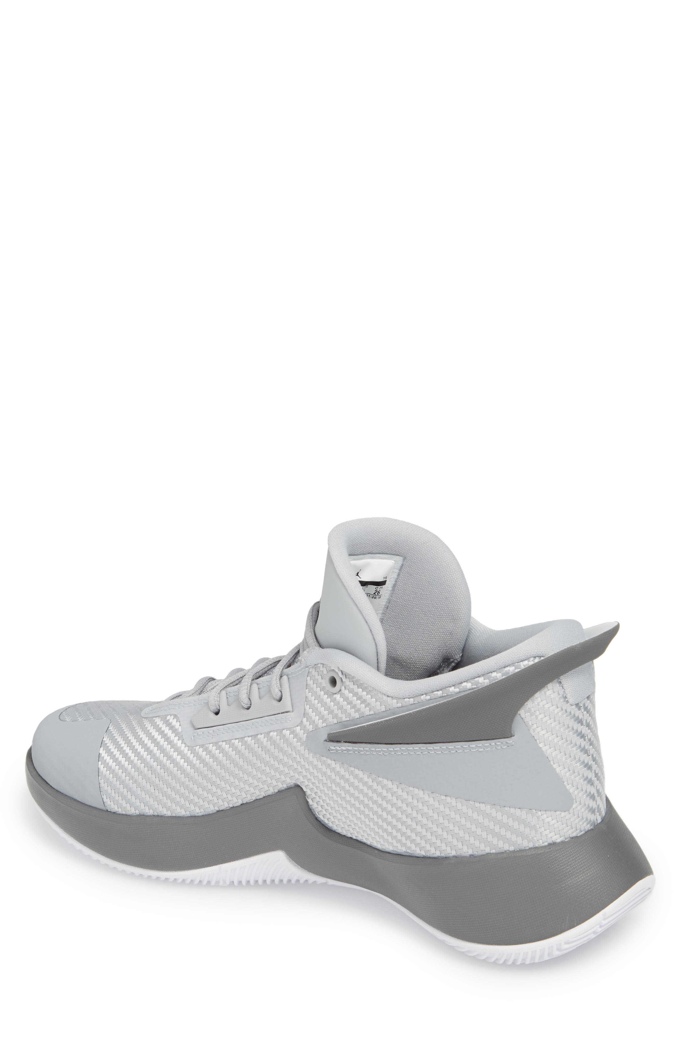 Jordan Fly Lockdown Sneaker,                             Alternate thumbnail 2, color,                             Wolf Grey/ White/ Dark Grey