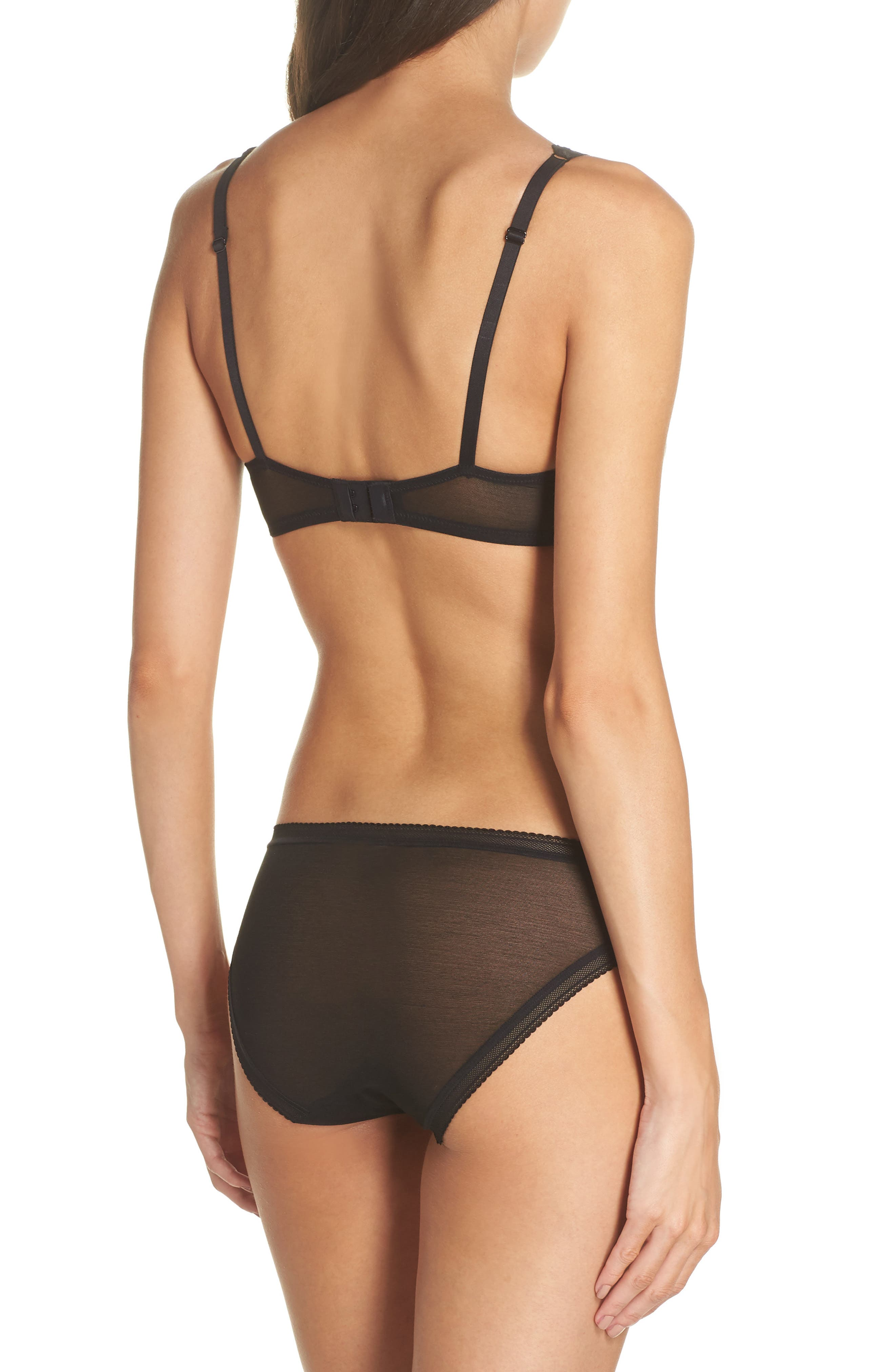 Mesh Bikini,                             Alternate thumbnail 5, color,                             Black