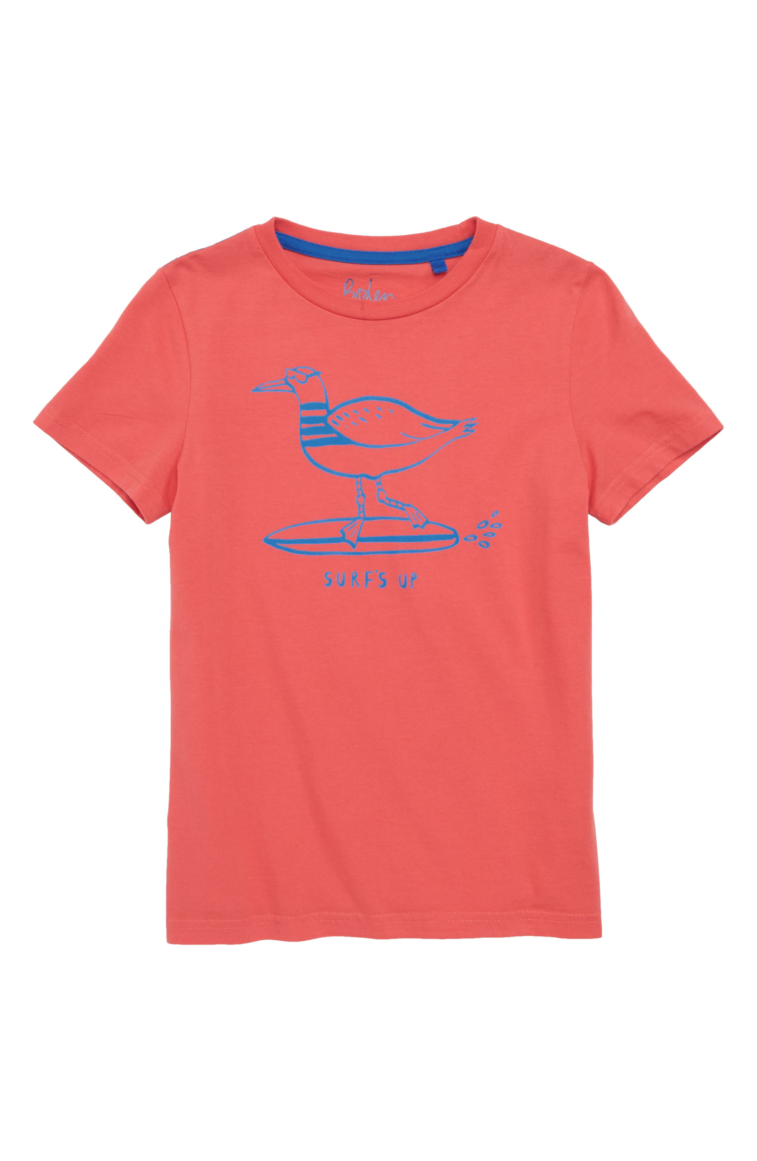 Surf Dude Graphic T-Shirt,                         Main,                         color, Jam Red Surfing Seagull