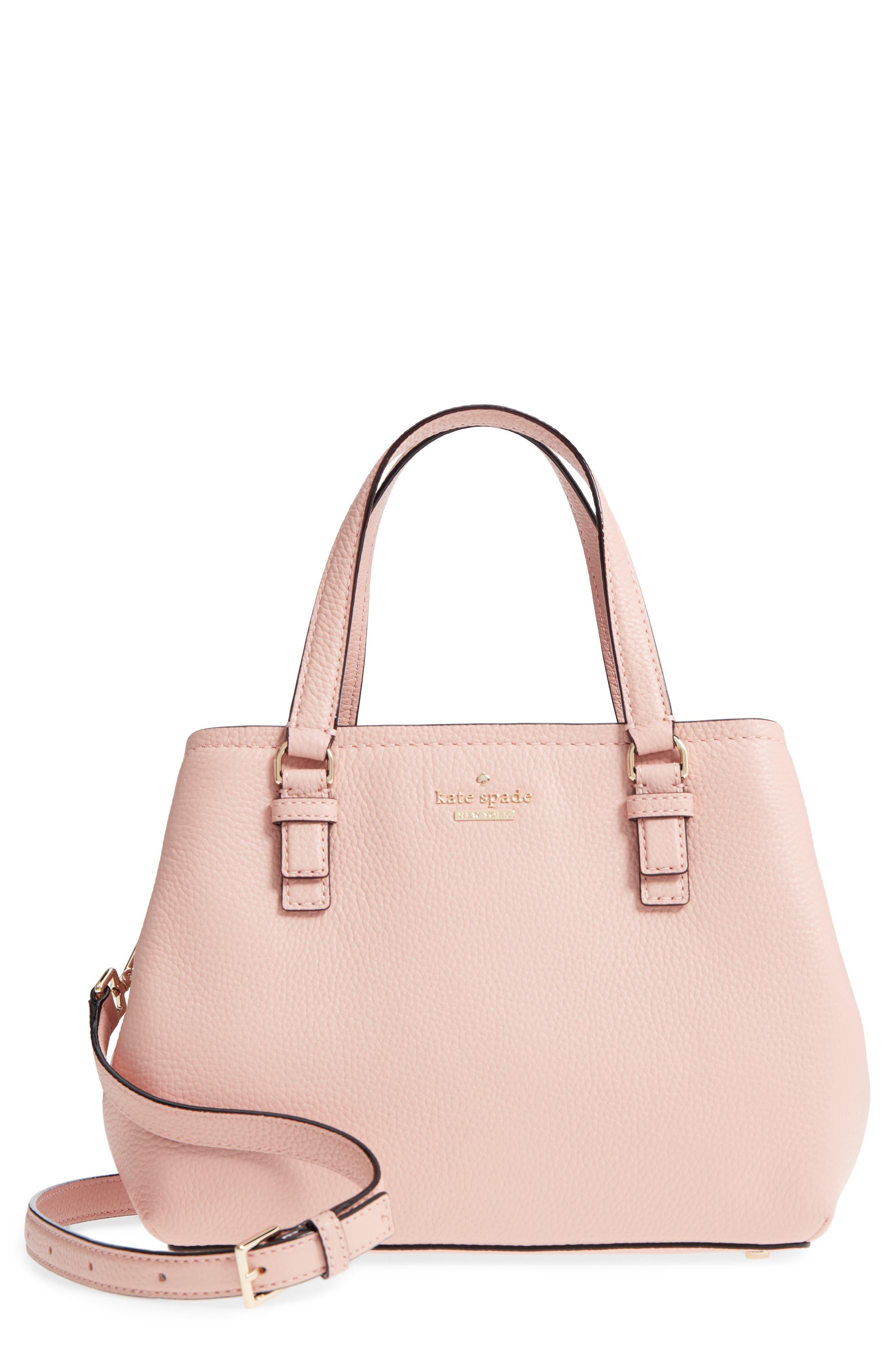 jackson street – small octavia leather satchel,                             Main thumbnail 1, color,                             Rosy Cheeks