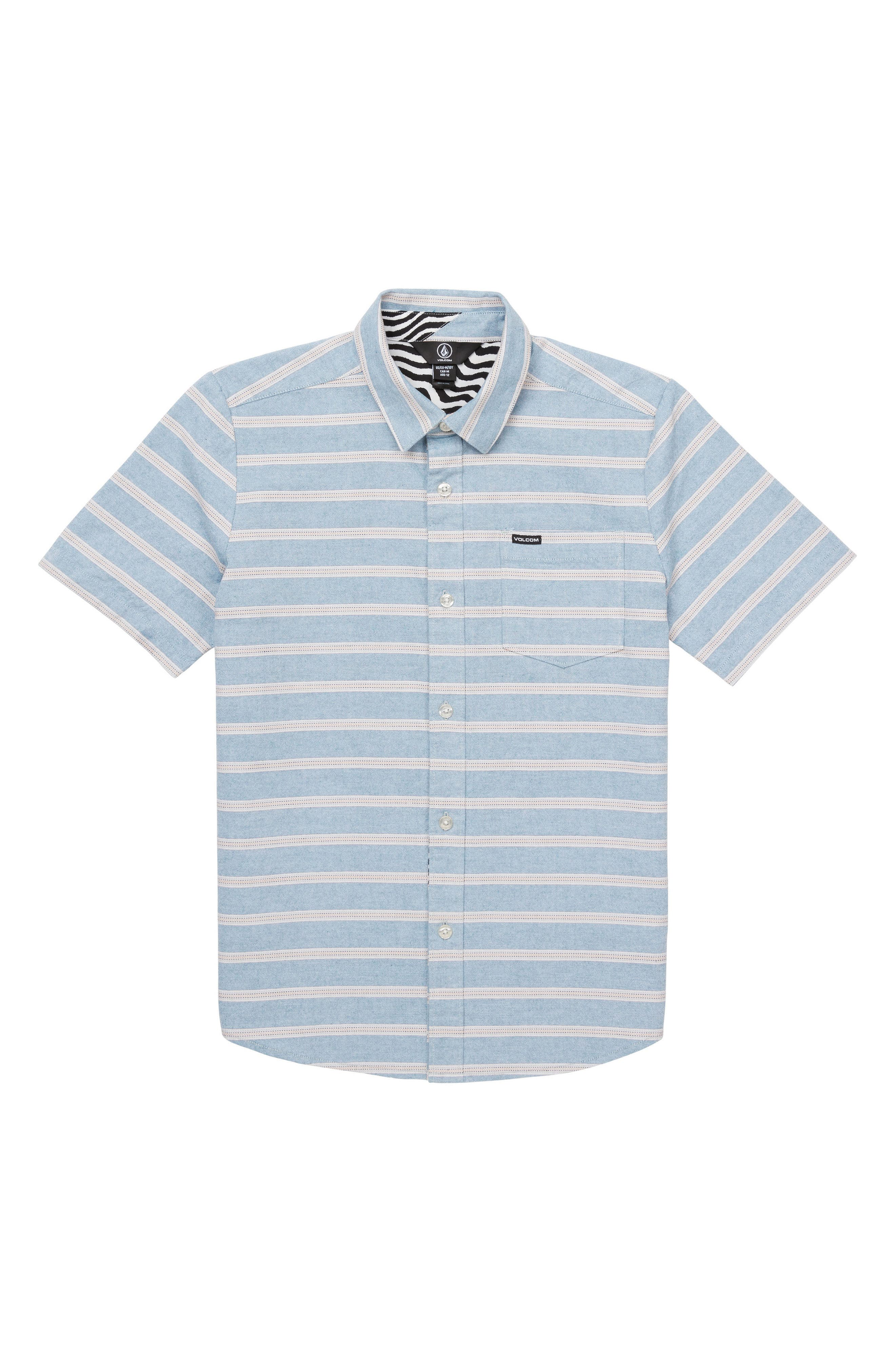 Branson Woven Shirt,                         Main,                         color, Vintage Blue