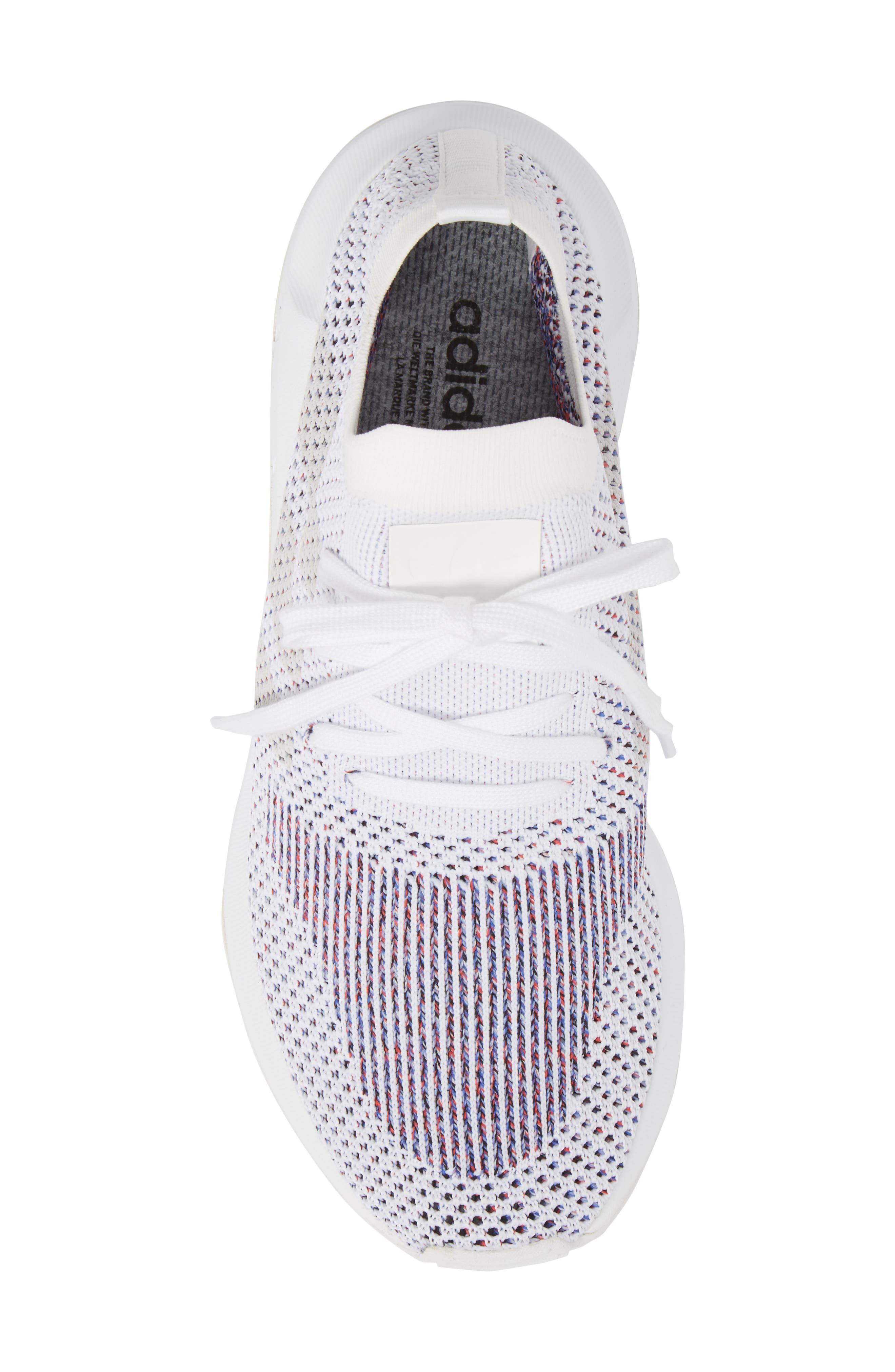 Swift Run Primeknit Training Shoe,                             Alternate thumbnail 5, color,                             White/ Grey Heather Grey