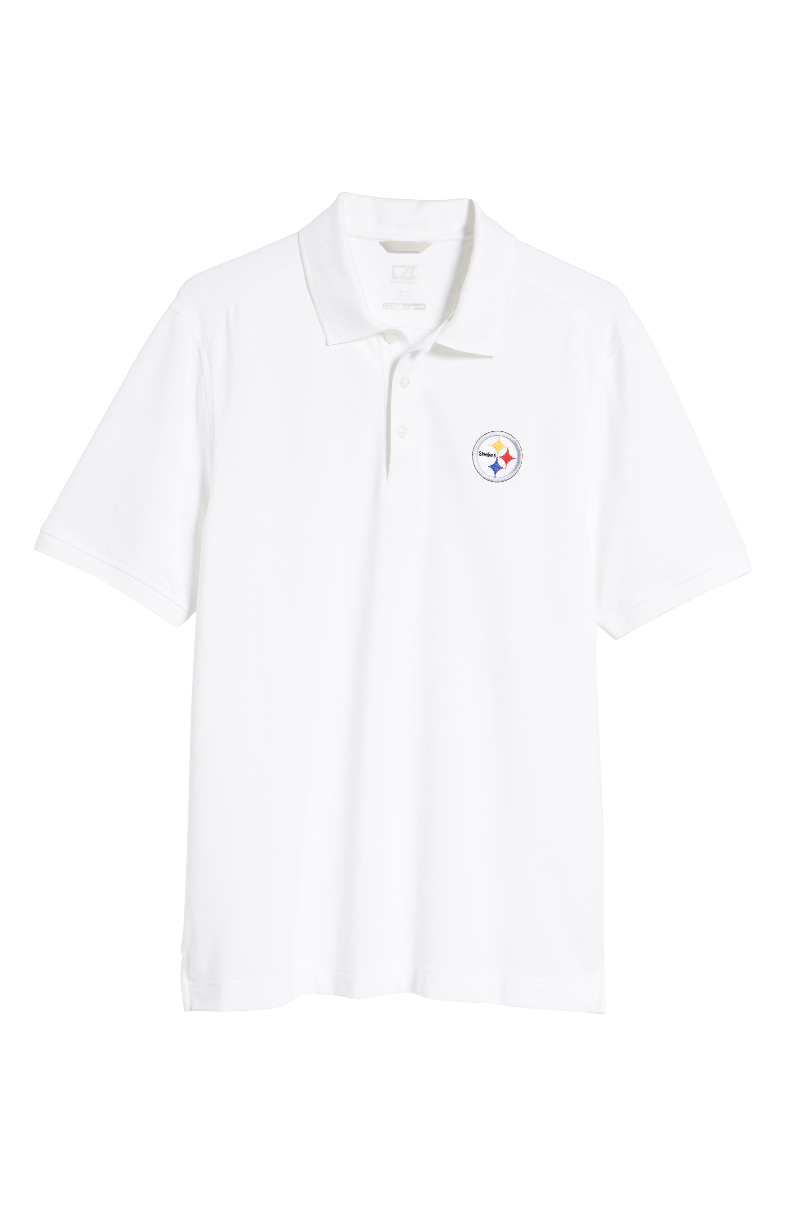 Pittsburgh Steelers - Advantage Regular Fit DryTec Polo,                             Alternate thumbnail 4, color,                             White